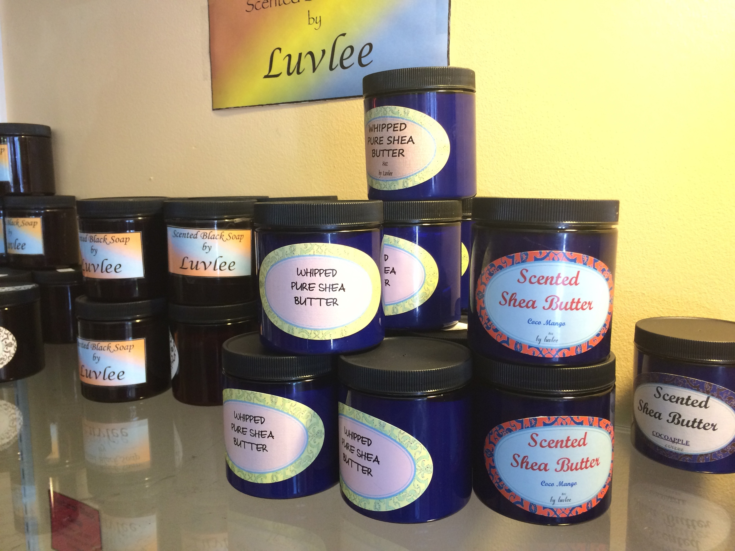 Black soap and scented shea butter by Luvlee
