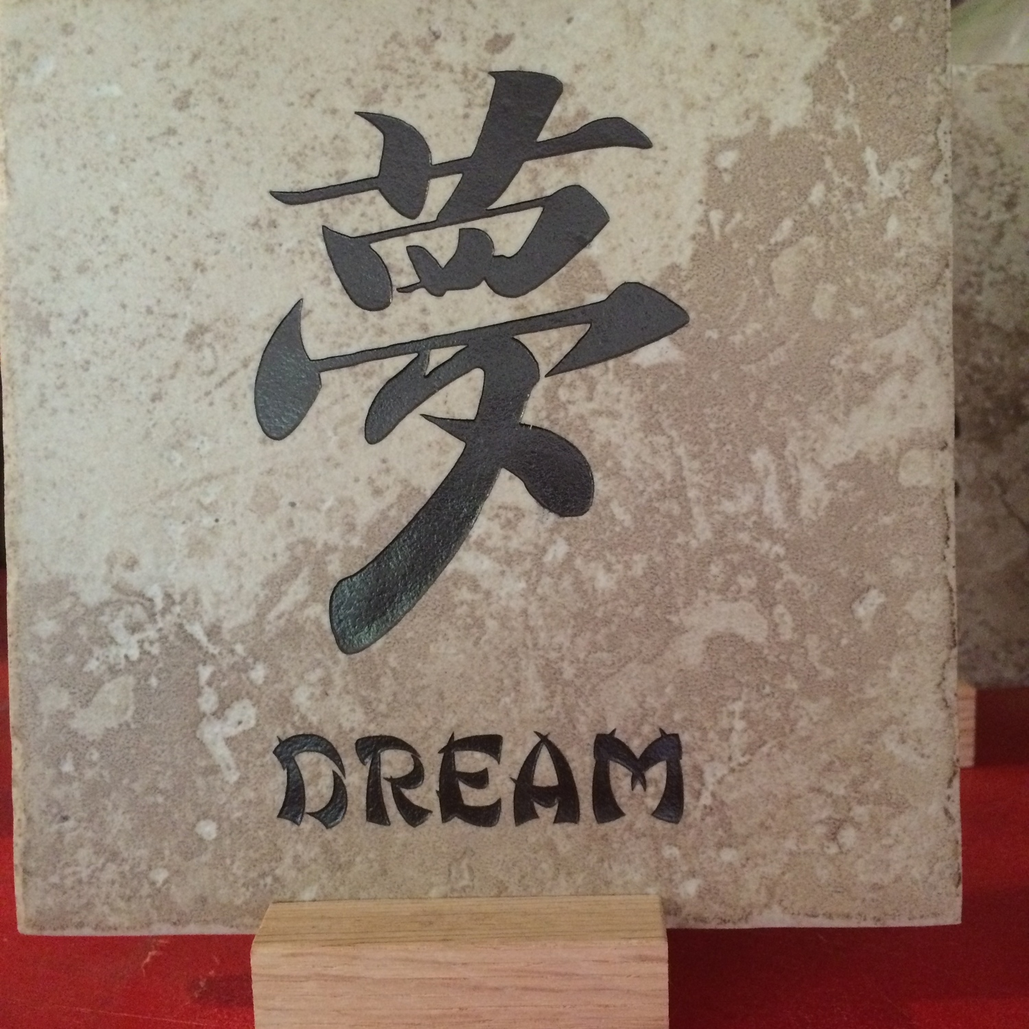 Tiles decorated with Mandarin words