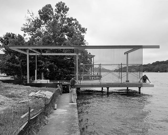 Sittin' on the dock of the lake....not wasting time #lakeaustin #boatdock #lakeaustinhomes #architecture