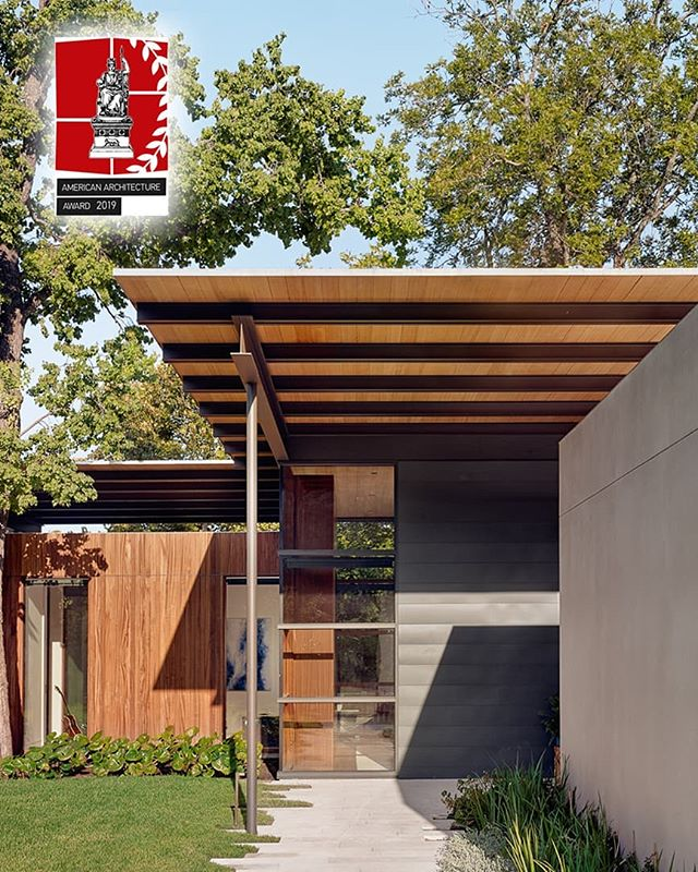 We are excited to announce that our Canopy House has been awarded the 2019 American Architecture Award by the Chicago Athenaeum. #americanarchitectureawards #chicagoathenaeum #austinarchitecture