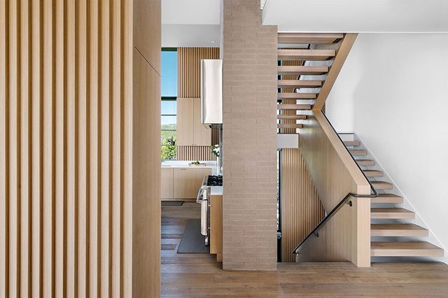 Layered frames at the Mt. Larson Residence. Photos by @thevuvobandit #moderninteriors #austinarchitecture #aparallel#westlakehills#stairporn