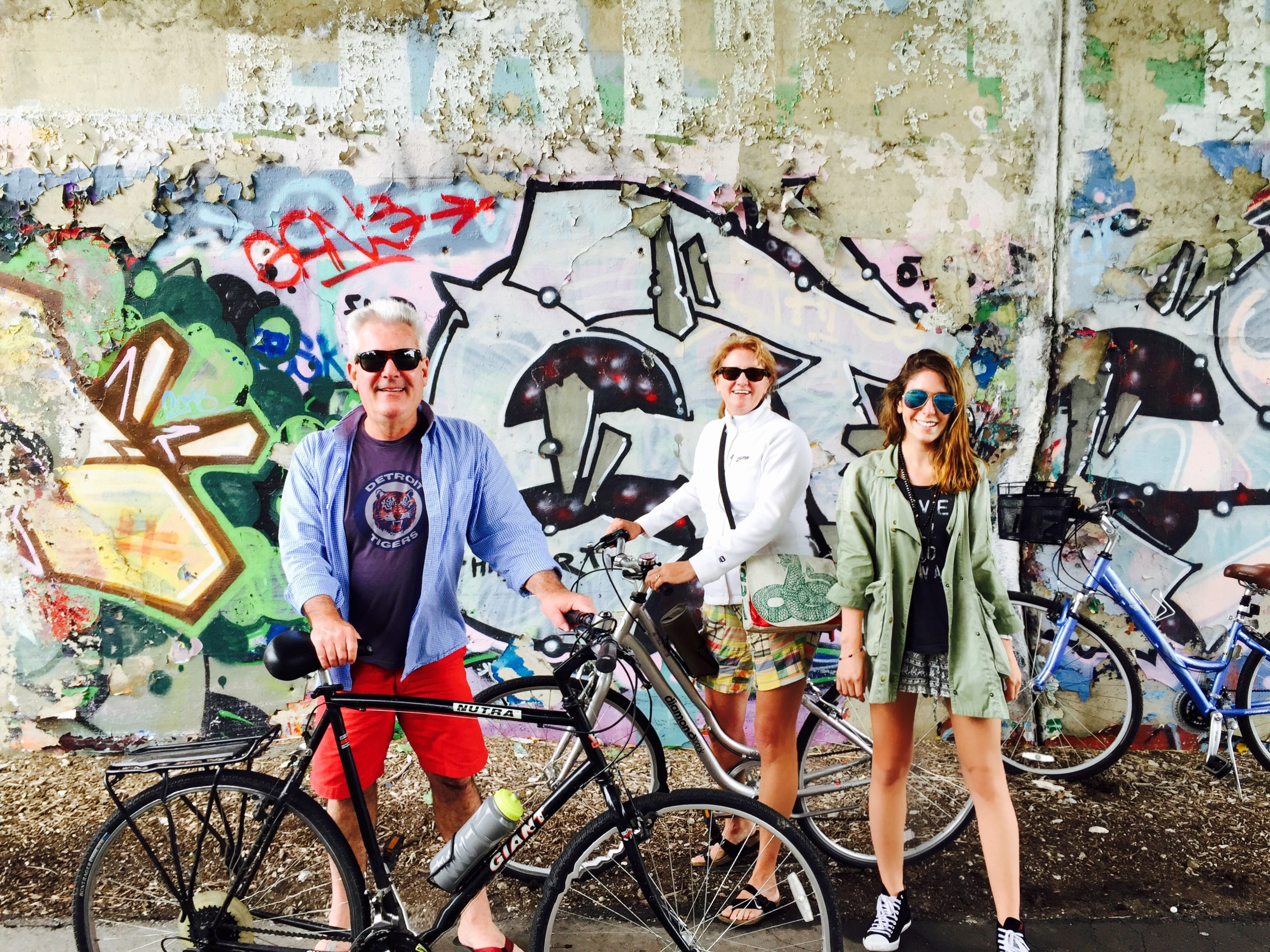 BIKING DETROIT WITH MY PARENTS.
