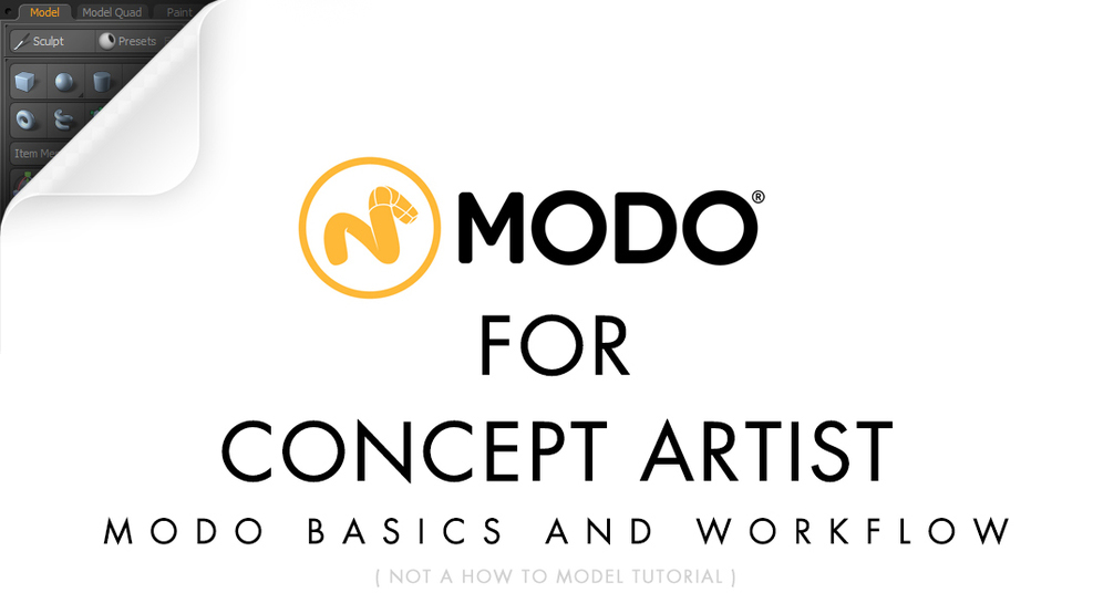 Modo fro concept artist workflow