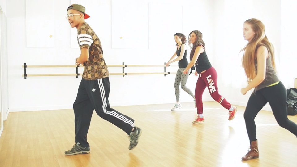 King Charles adult hip hop footwork workshop SDF 2015, Video still from Muse Motion