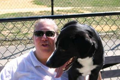 Deb, with her dog Nick