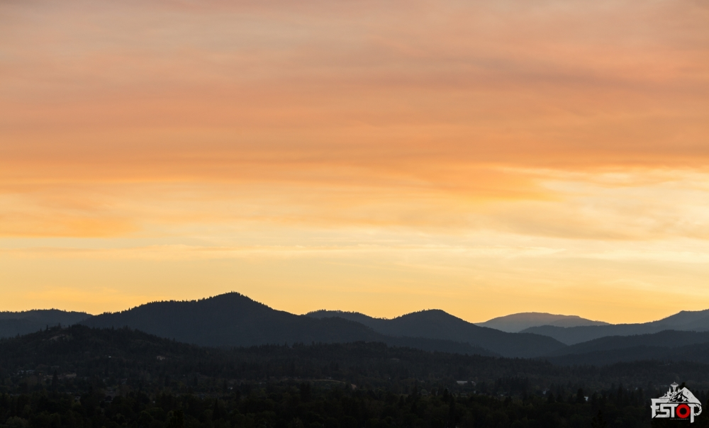Sunset over Grants Pass, OR