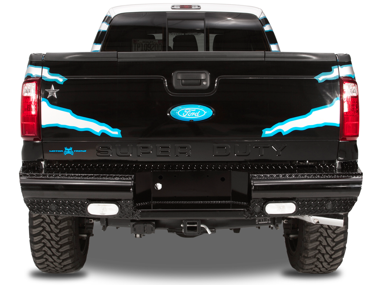 Black Steel Rear Bumper
