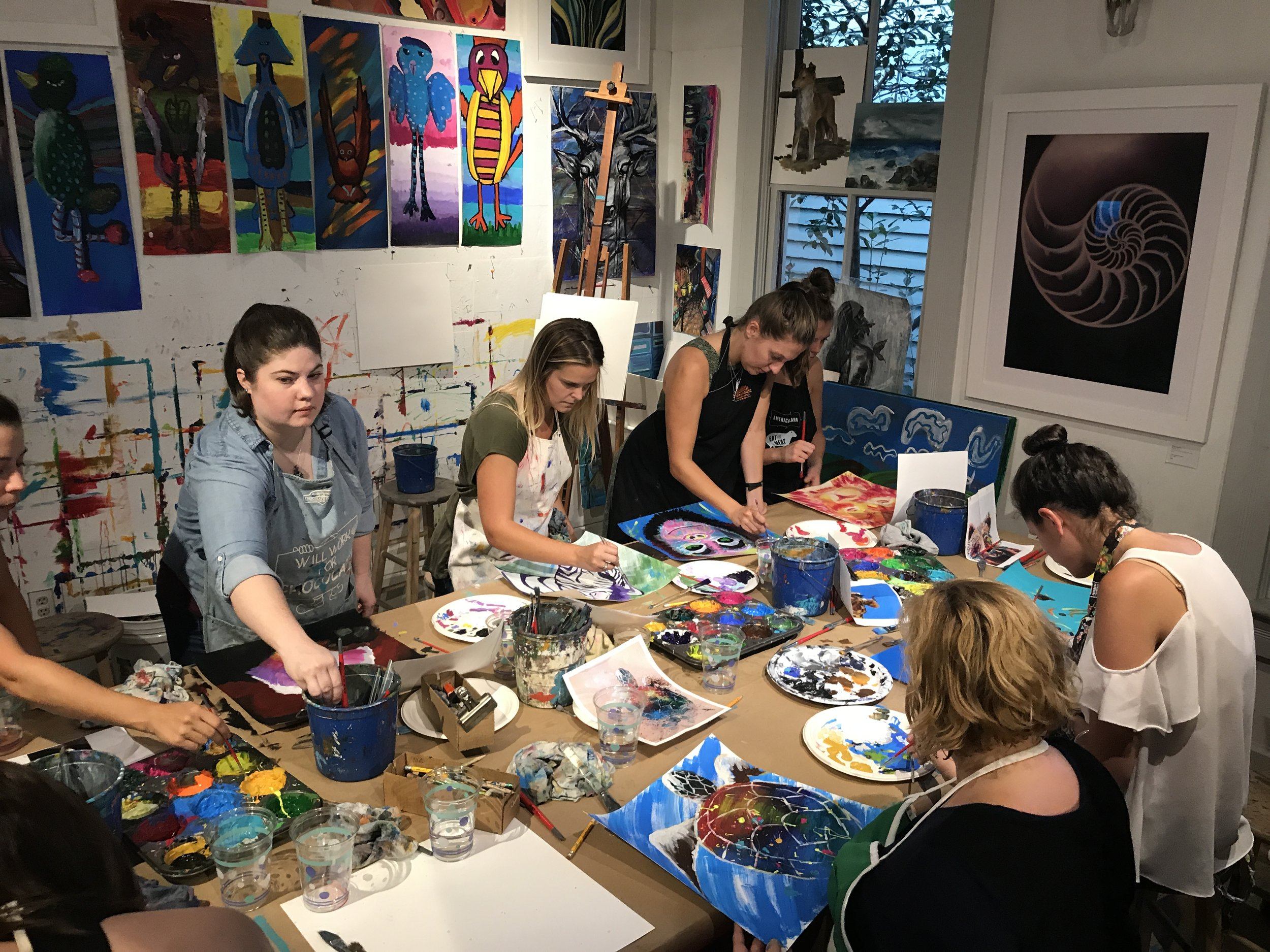 GROUP OR CORPORATE EVENTS - ACAC's Custom Art Experiences ignite creativity and empower teammates. As co-workers collaborate on various art projects they are pushed to discover BIG ideas to bring success to your business and bring your team closer together.