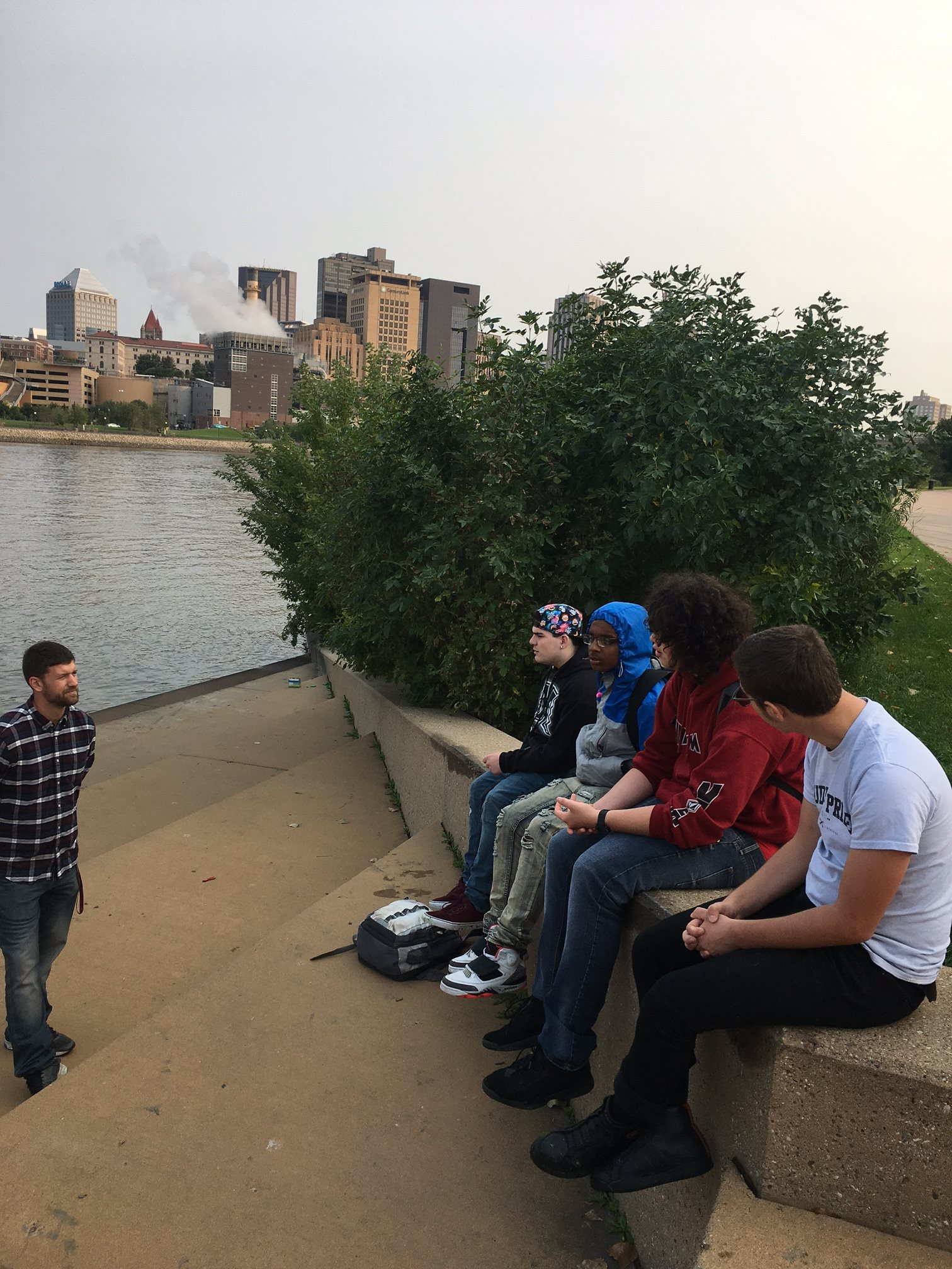 REA students - class outide - st.paul mn.jpg