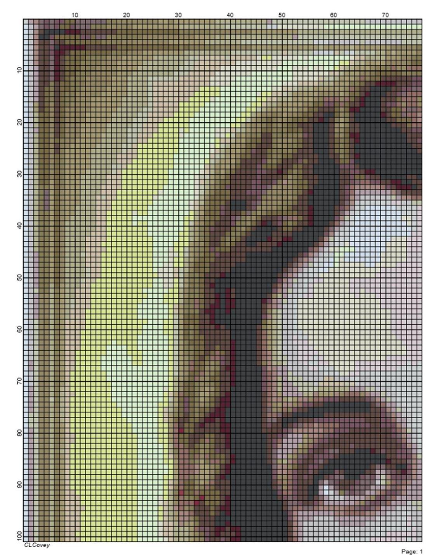 Block color chart / Esquema de cuadros con los colores