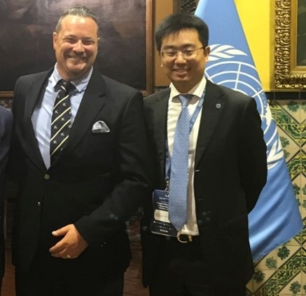 Jean-Paul Gauthier with Jie Zhao, UNIDO's Coordinator for South-South Cooperation
