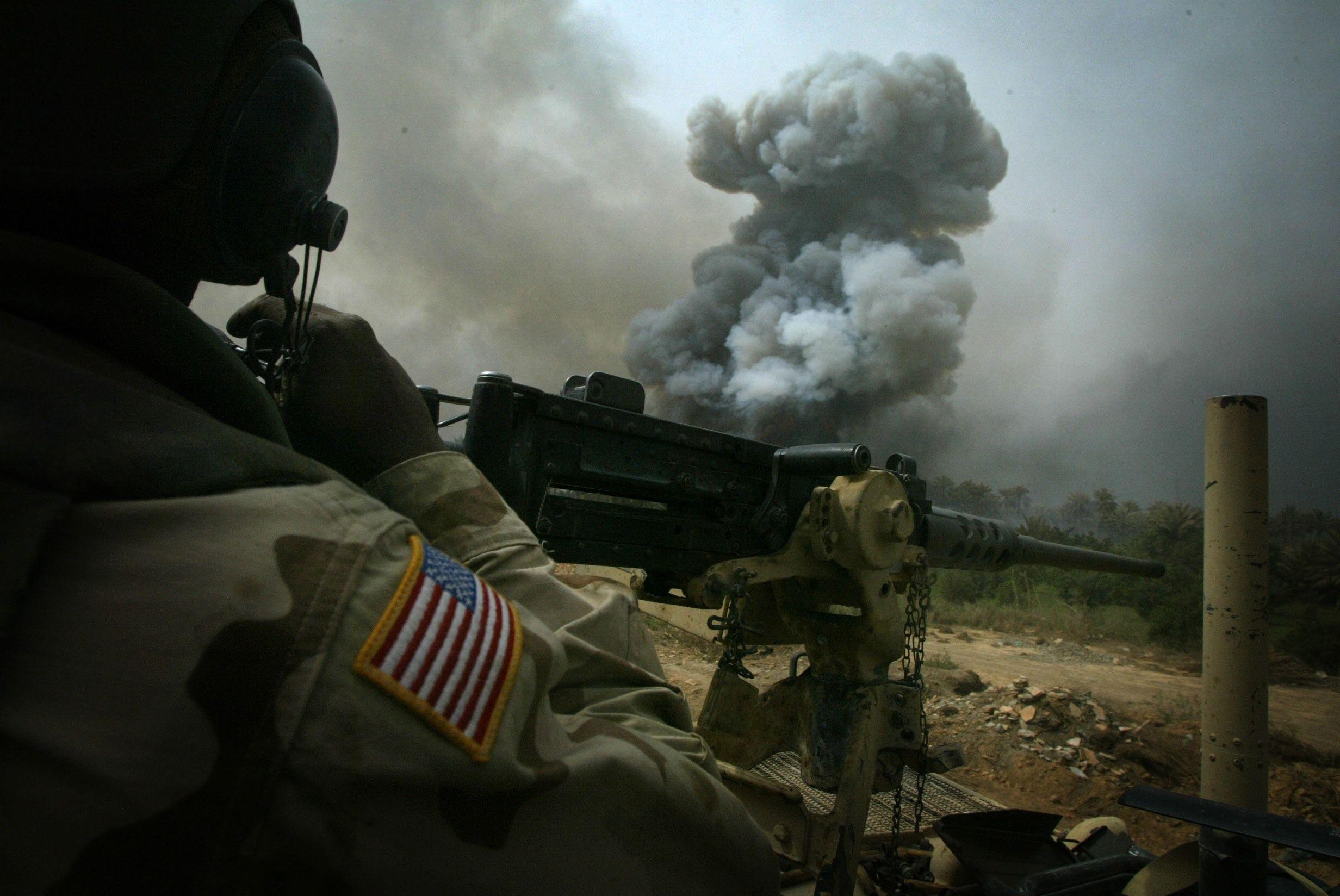 A gunner down range