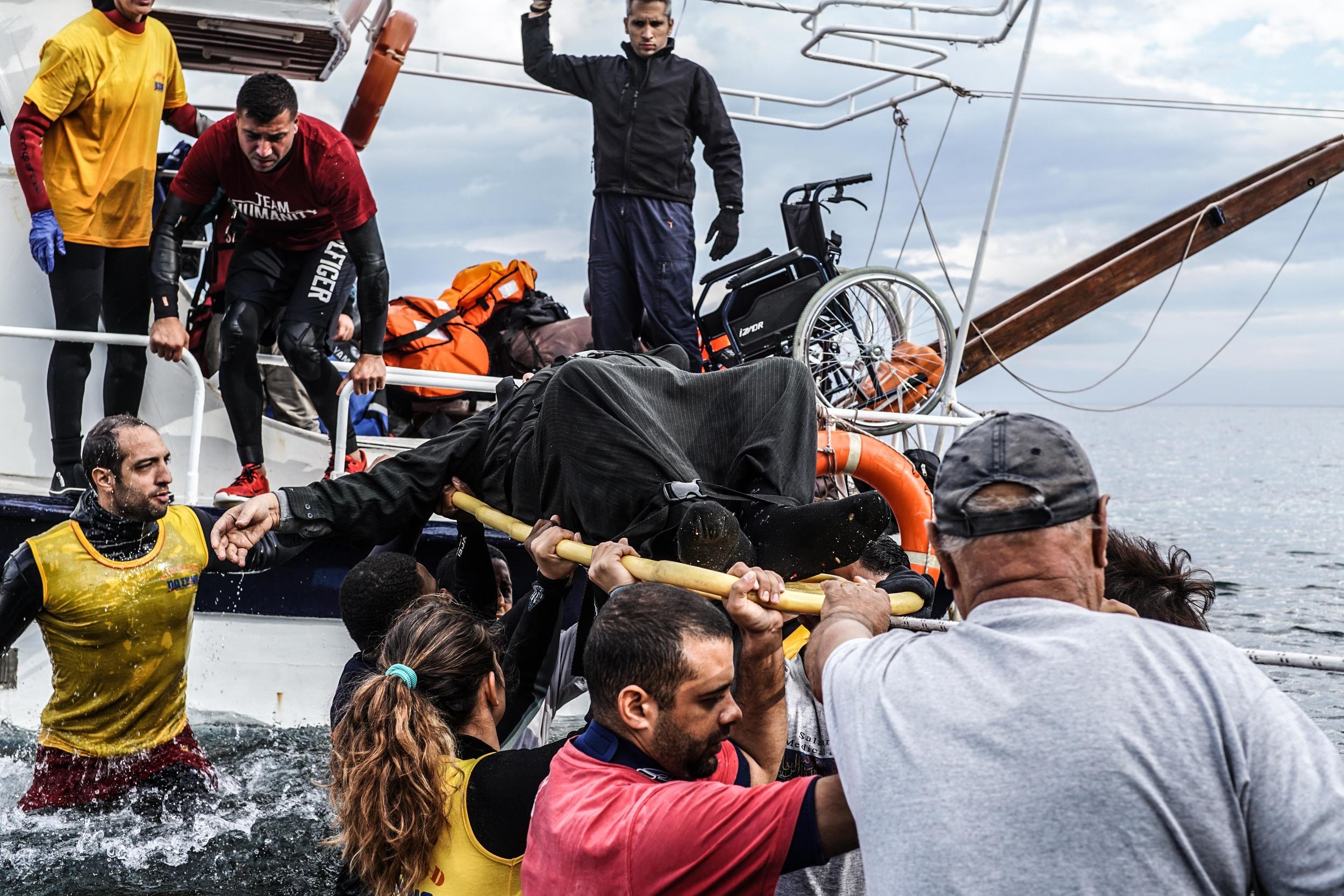 Syrian Refugee Crisis Lesbos Greece November 2015 15.jpg