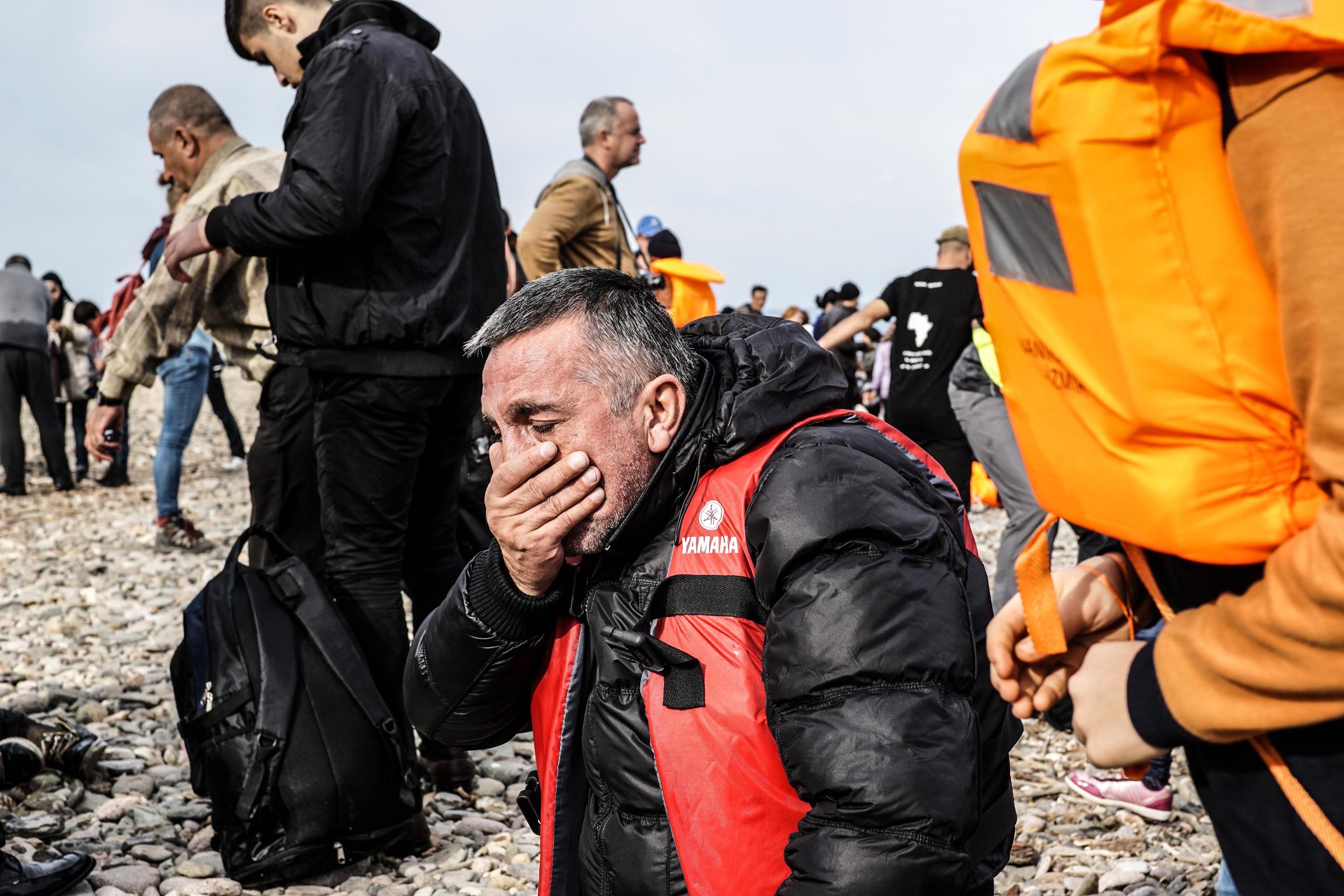 Syrian Refugee Crisis Lesbos Greece November 2015 18.jpg