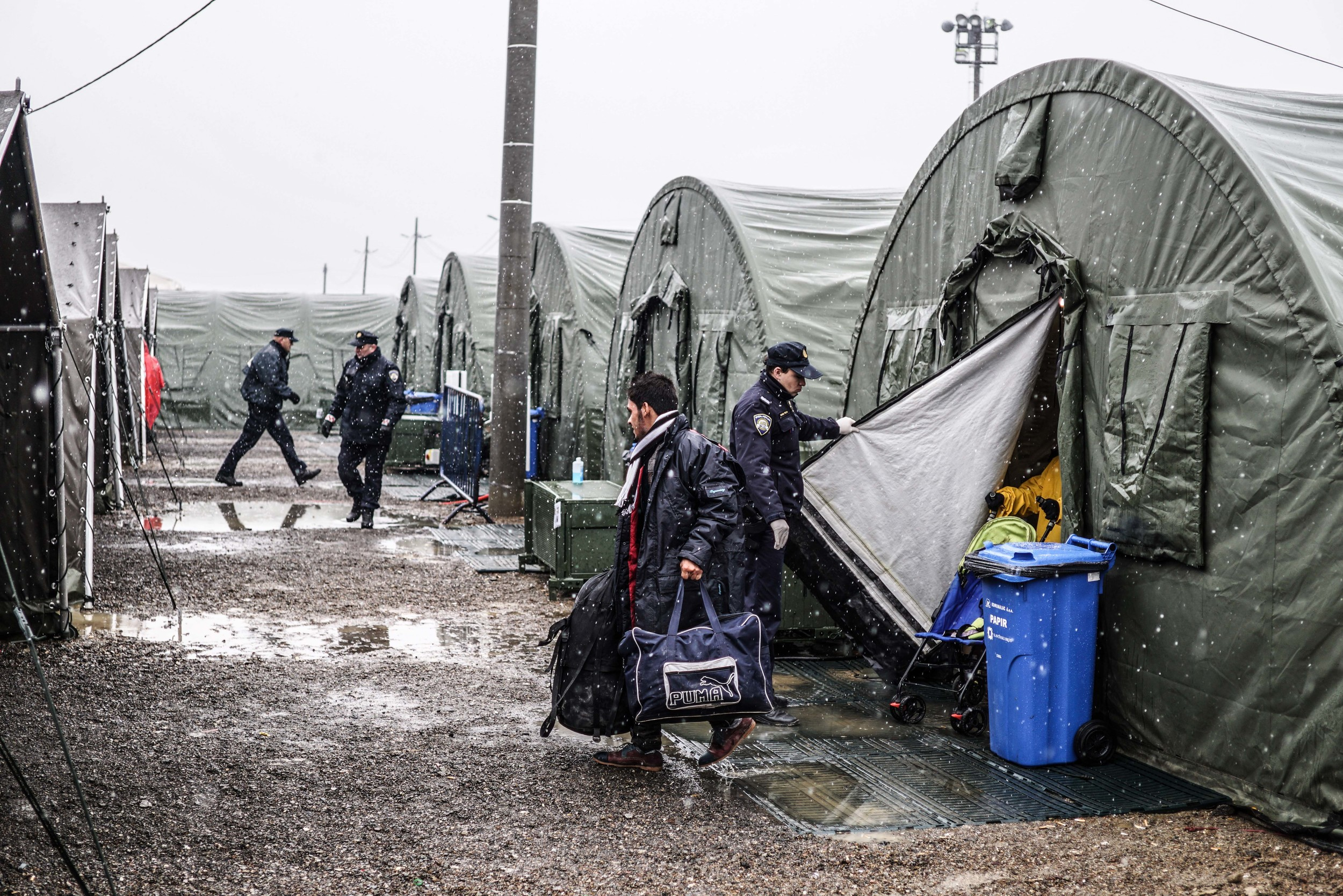 Syrian Refugee Crisis Croatia Slavonski Brod Winter Refugee Camp November 2015 29.jpg