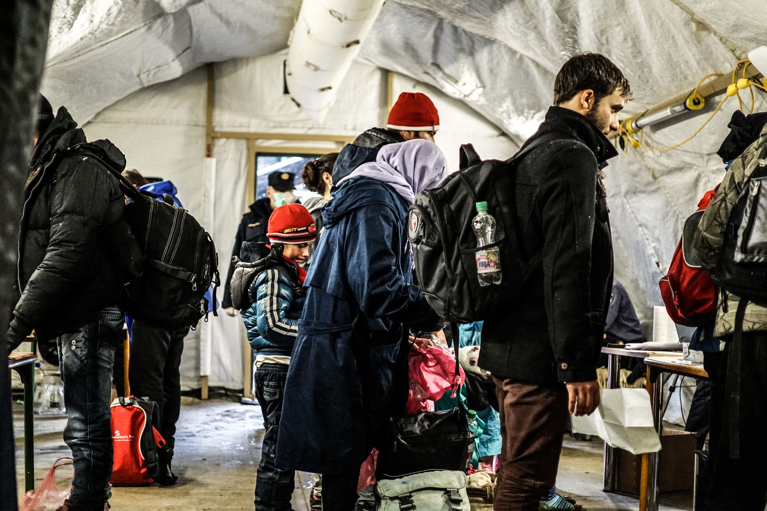 Syrian Refugee Crisis Croatia Slavonski Brod Winter Refugee Camp November 2015 23.jpg