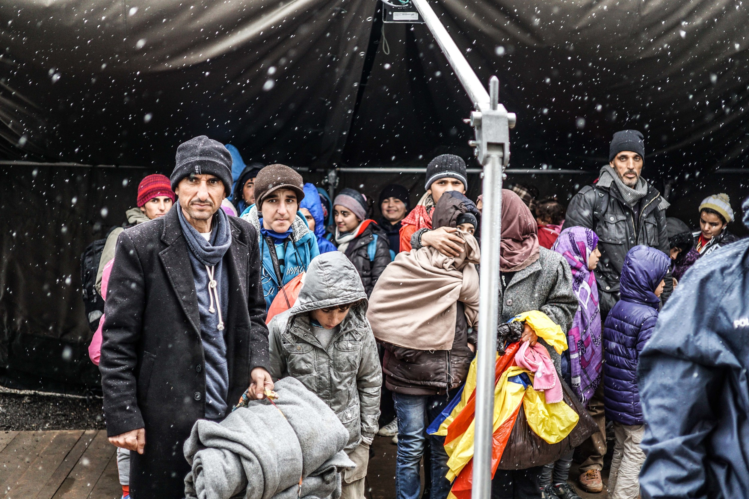 Syrian Refugee Crisis Croatia Slavonski Brod Winter Refugee Camp November 2015 21.jpg