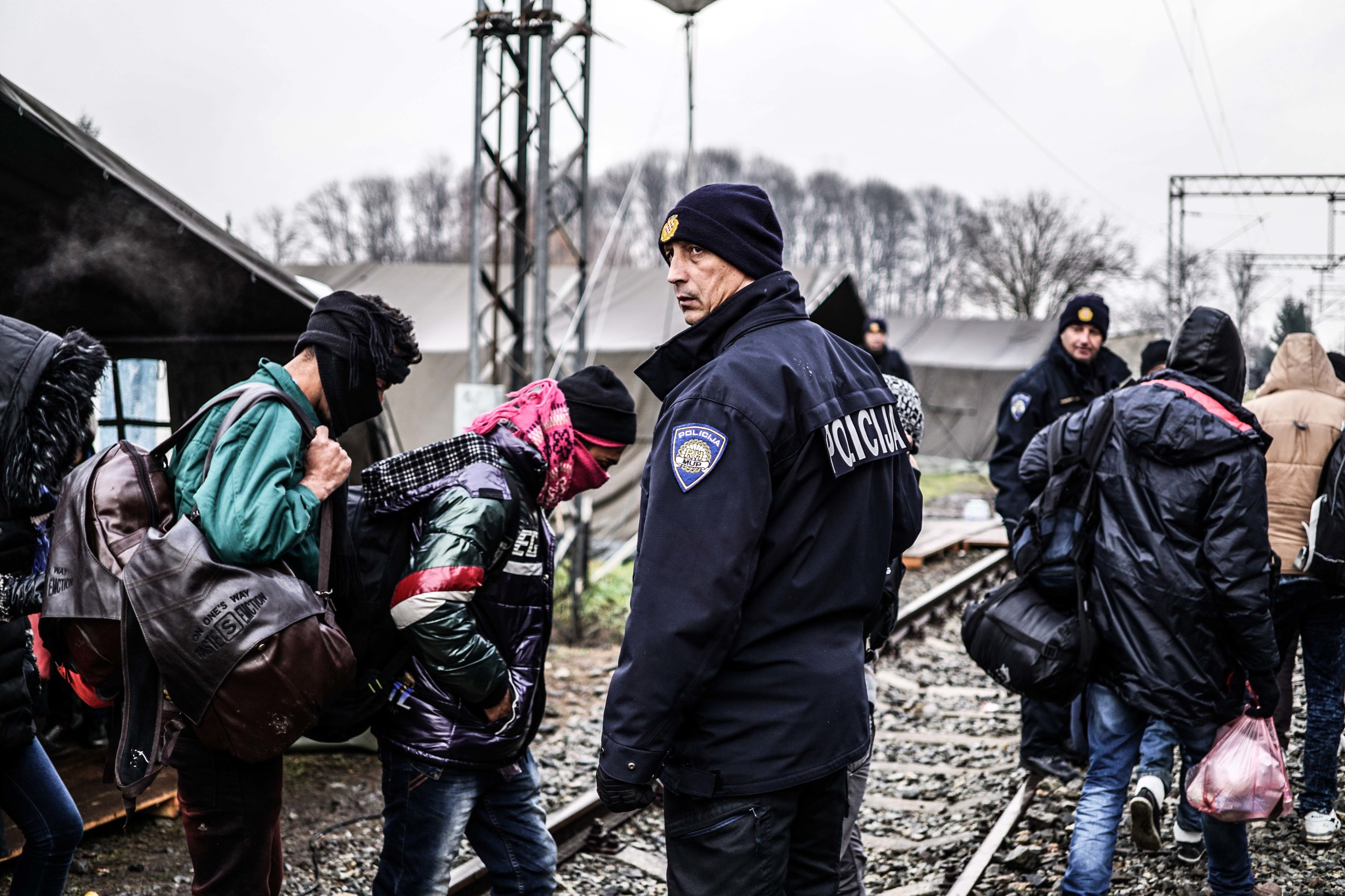 Syrian Refugee Crisis Croatia Slavonski Brod Winter Refugee Camp November 2015 7.jpg