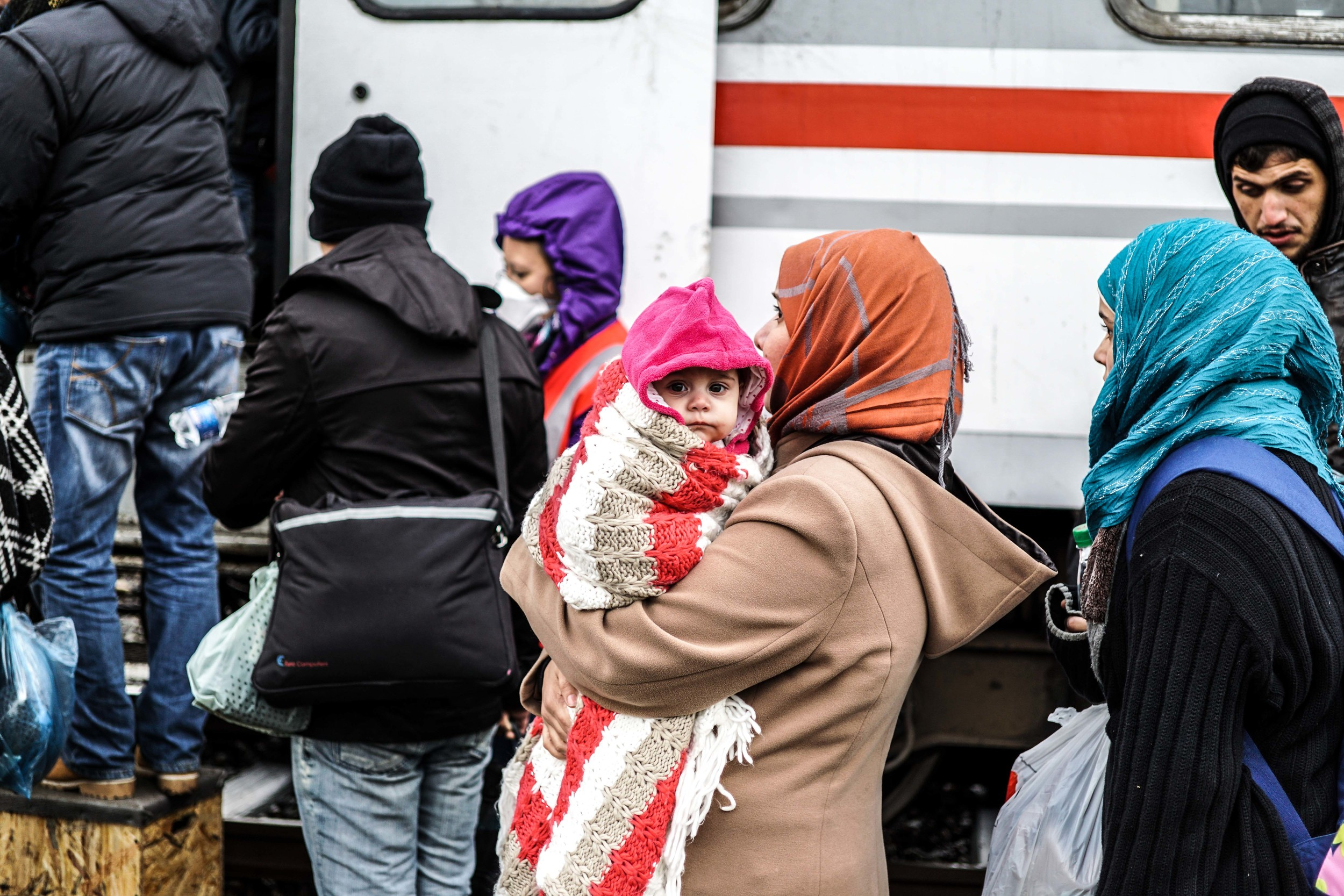 Syrian Refugee Crisis Croatia Slavonski Brod Winter Refugee Camp November 2015 6.jpg
