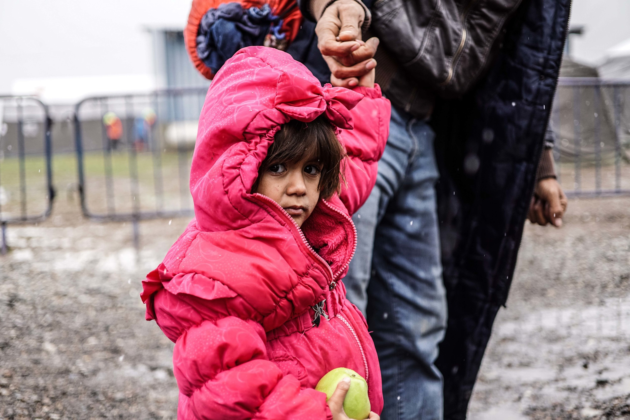 Syrian Refugee Crisis Croatia Slavonski Brod Winter Refugee Camp November 2015 4.jpg