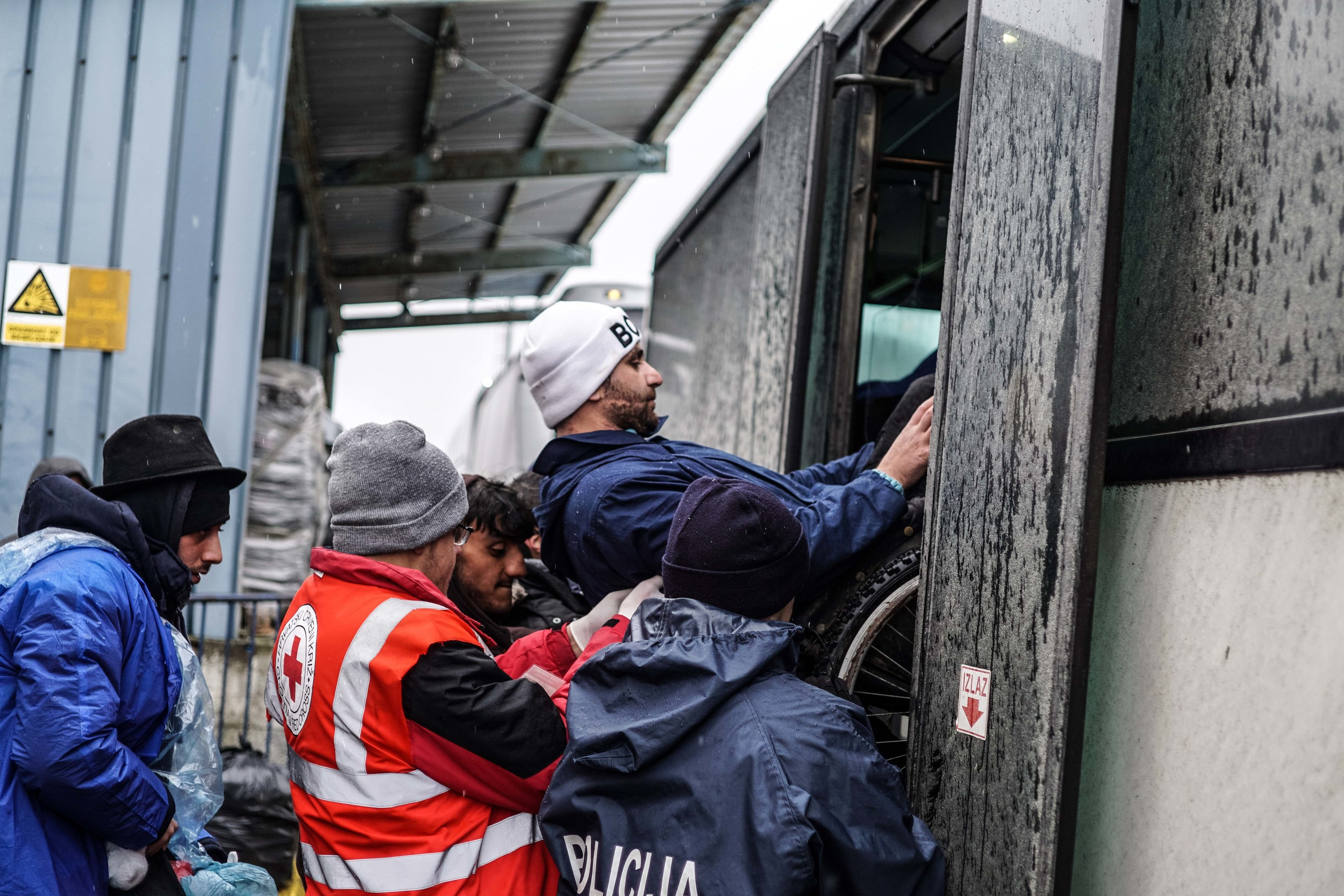 Syrian Refugee Crisis Croatia Slavonski Brod Winter Refugee Camp November 2015 3.jpg