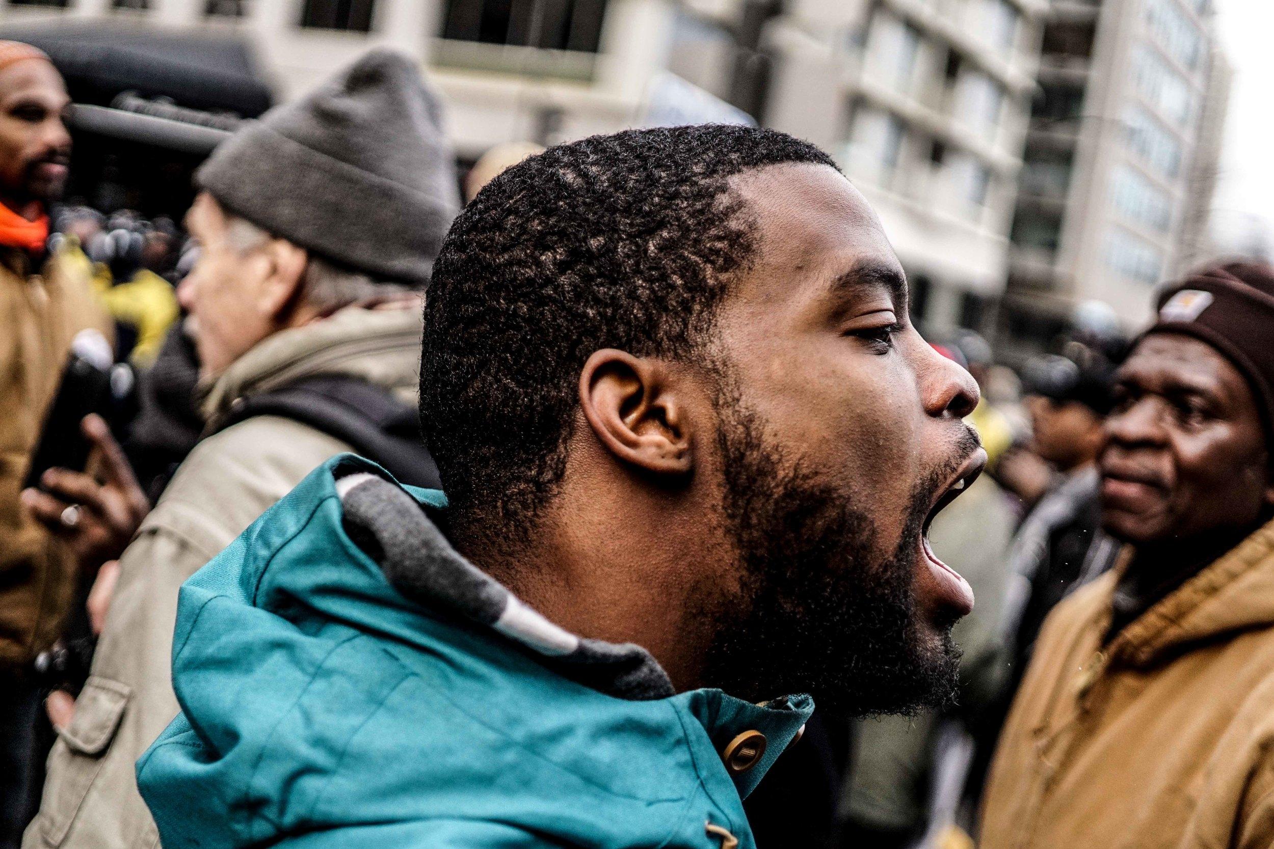 Laquan Mcdonald Protest Resign Rahm Christmas Eve December 2015 Harrison Bruhn 21.jpg