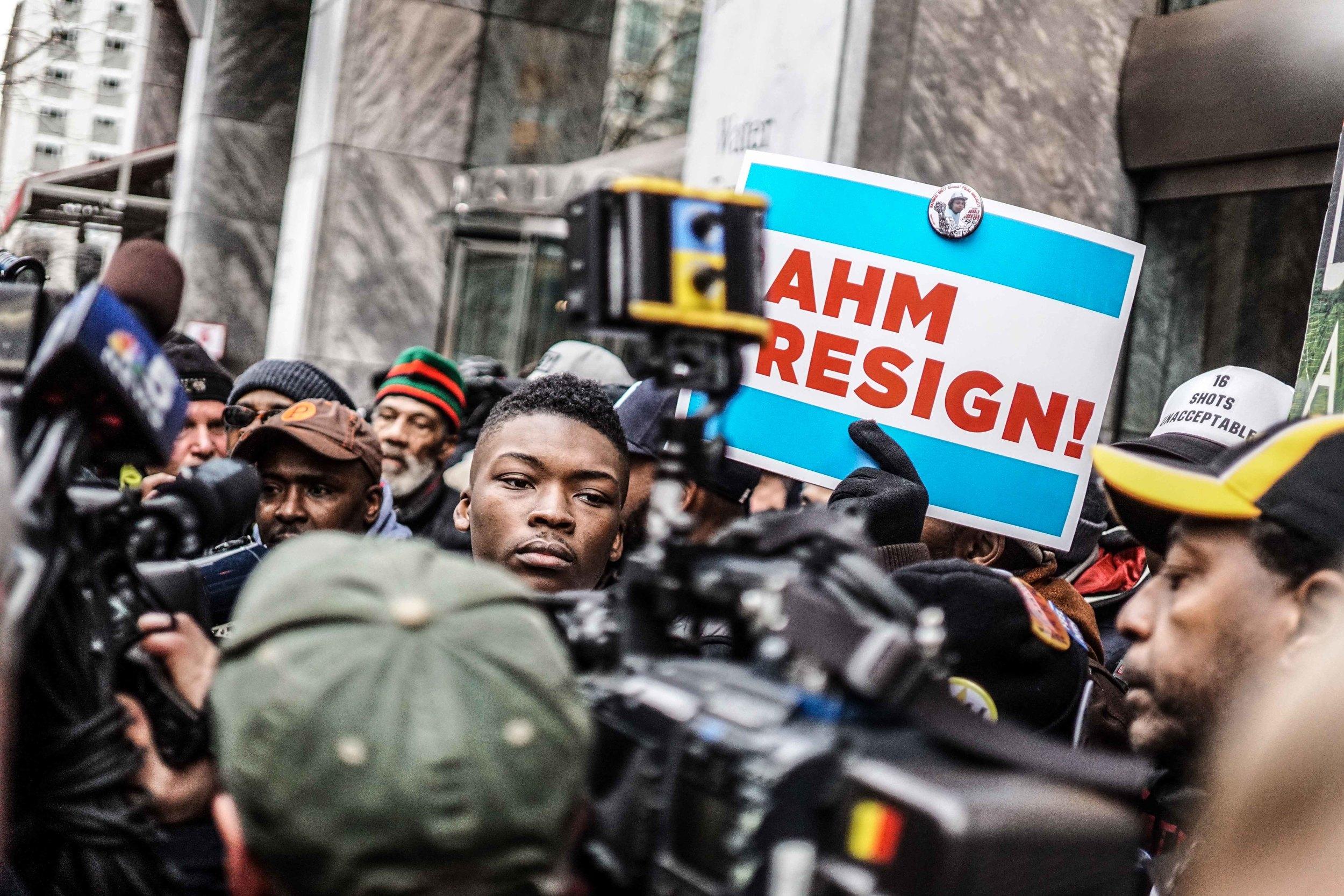 Laquan Mcdonald Protest Resign Rahm Christmas Eve December 2015 Harrison Bruhn 20.jpg