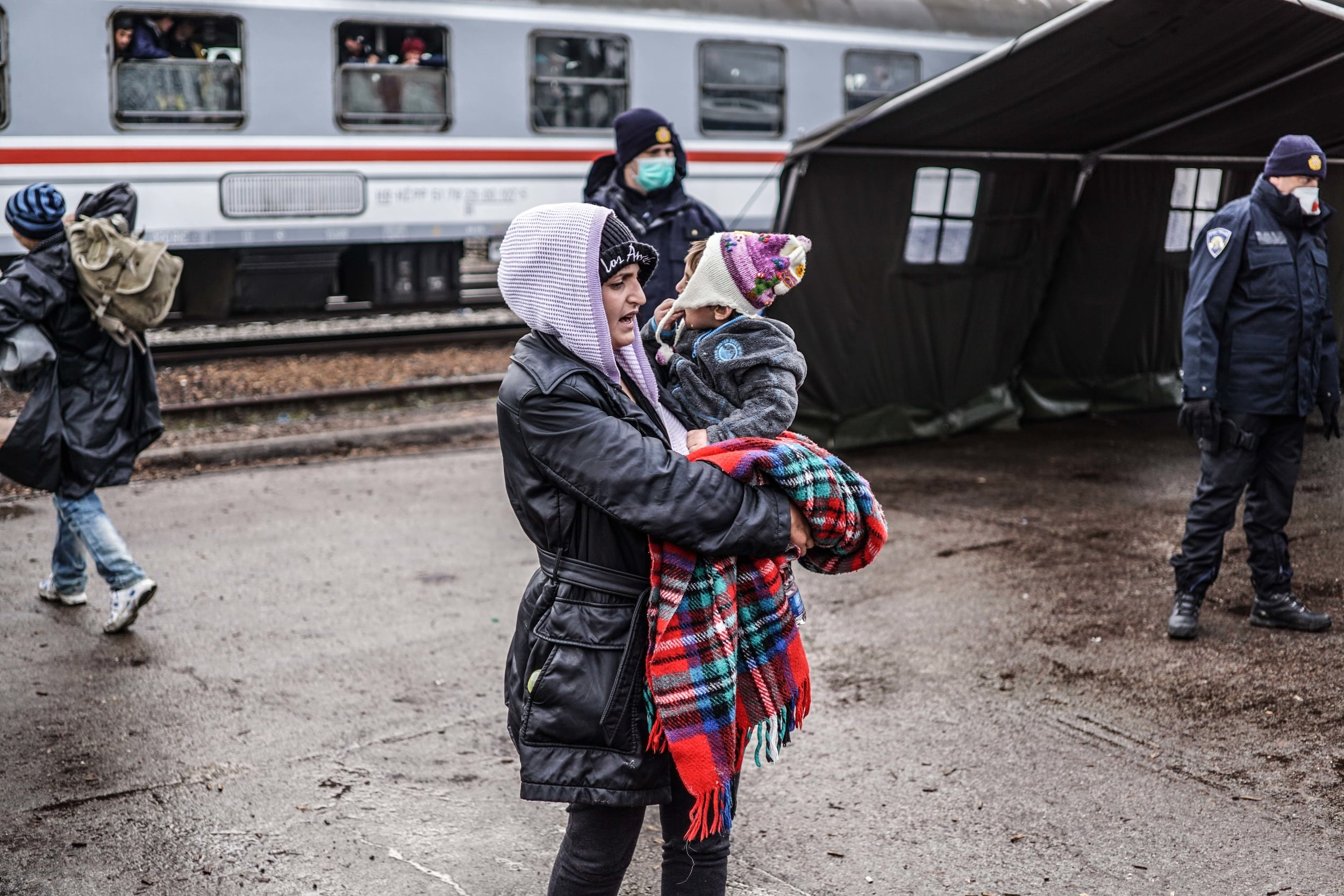 Syrian Refugee Crisis Croatia Slavonski Brod Winter Refugee Camp November 2015 8.jpg