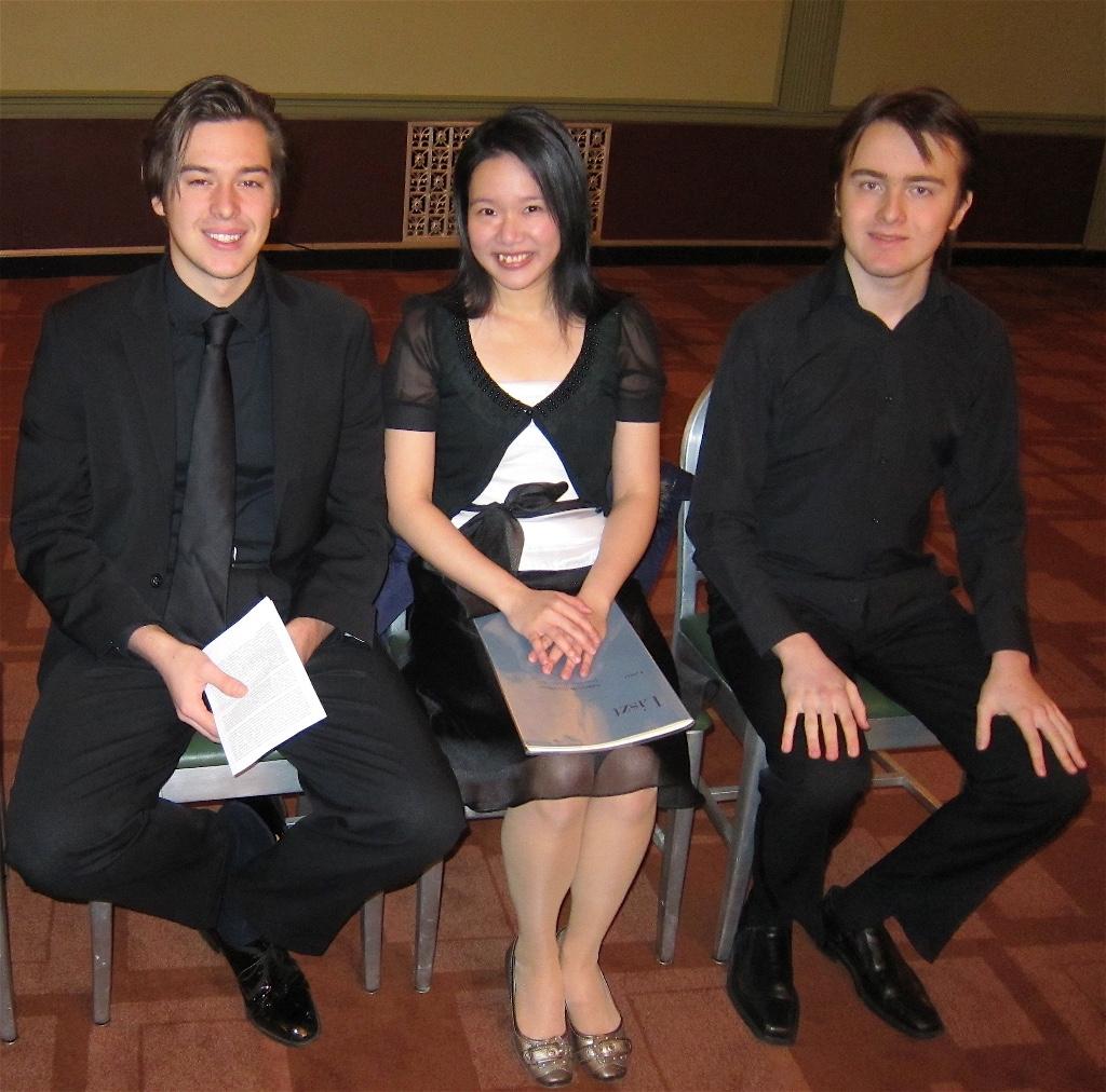 (Pictured L-R: Phil Kwoka, I-Chieh Wang, Daniil Trifonov)