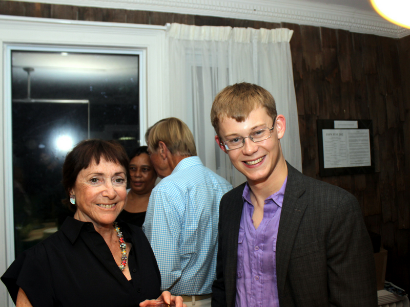 Miles Walter with Pianofest board member Ana Daniel