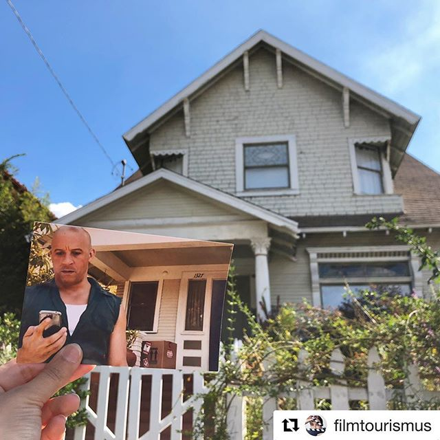 "Great shot from @filmtourismus #Repost ・・・ The Toretto house of ""Fast & Furious""! East Kensington Road, Angelino Heights in Los Angeles. 🎬 ・・・ ・・・#videoproduction #filmmaking #filmlocations #filmmaker #inception #stillinastill"