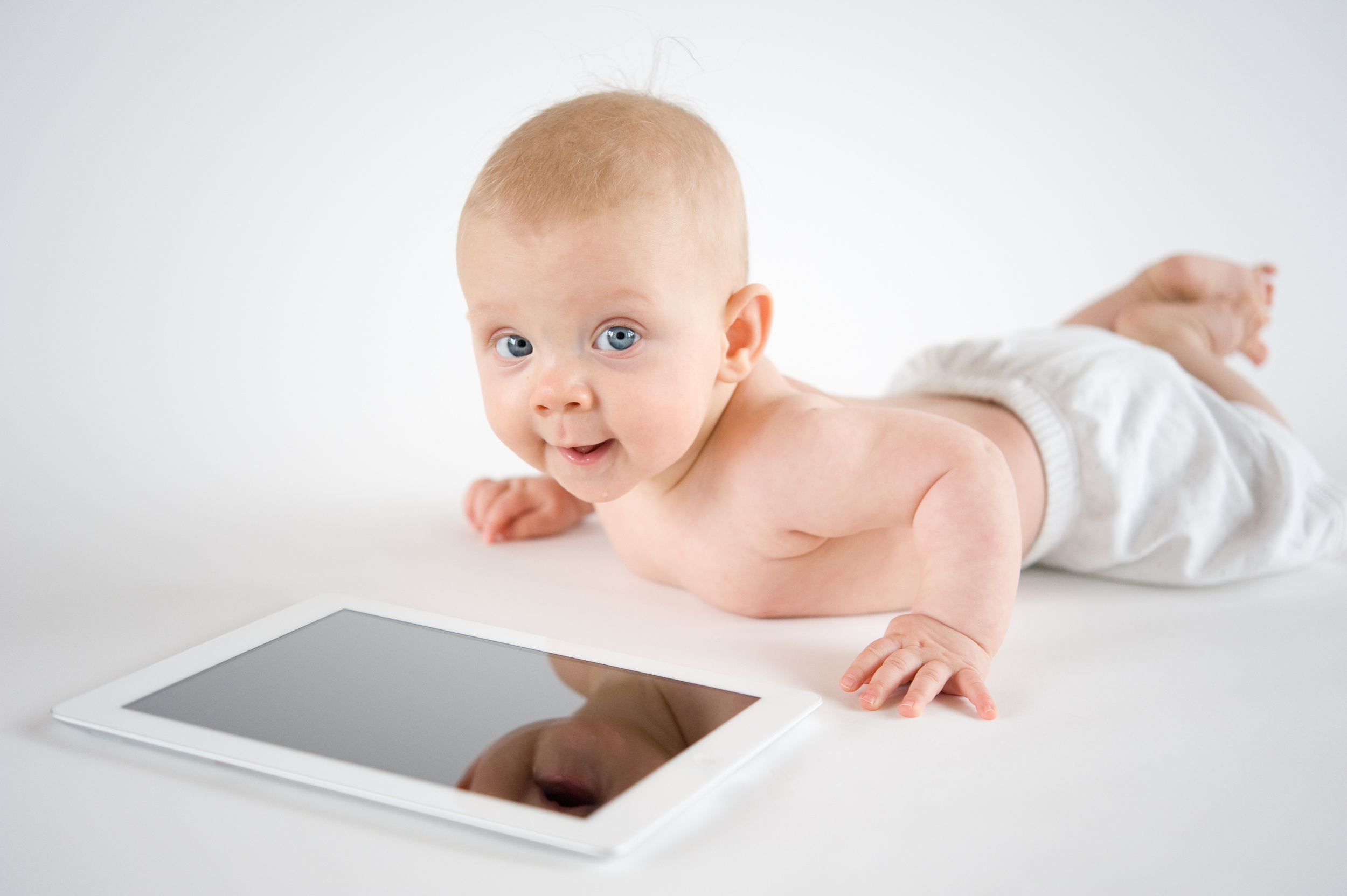 Infant with Ipad screen