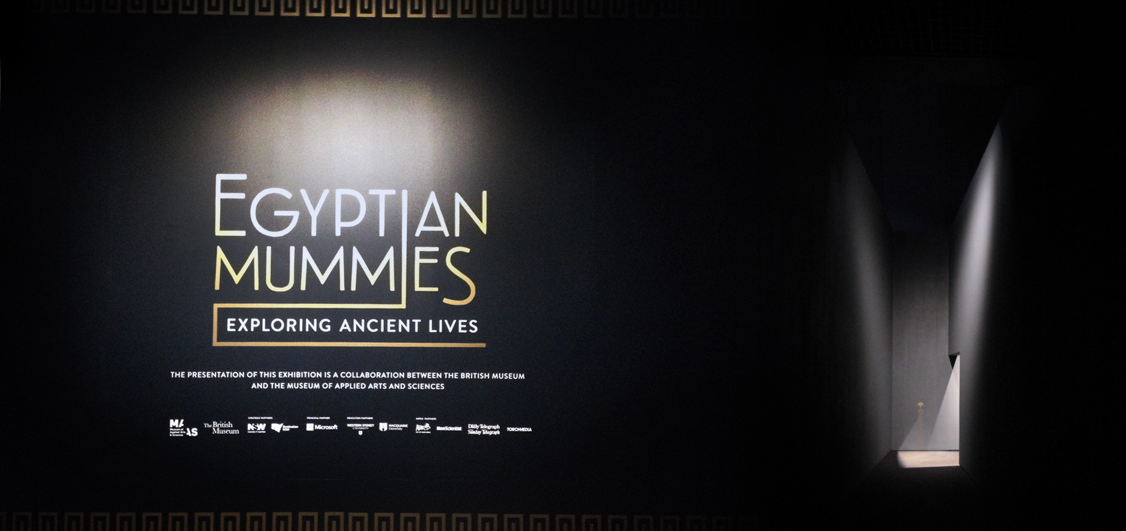 exhibition design sydney egyptian mummies MAAS Powerhouse British Museum studioplusthree