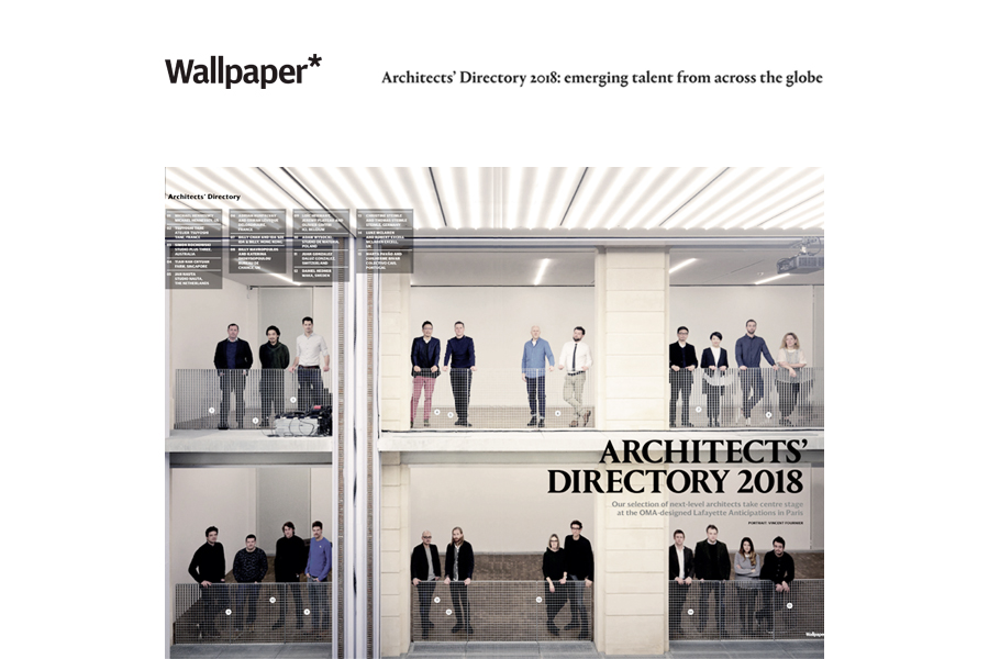 Wallpaper* Magazine Architect's Directory 2018 selects studioplusthree as one of the year's top 20 emerging architecture practices from around the globe