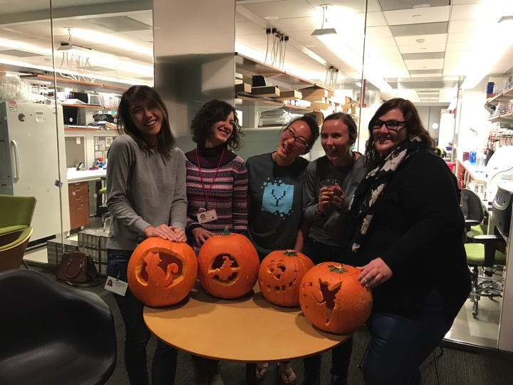 Getting a little artistic for Halloween.  (left to right) Vivien Low, Joana Nunes, Julie Han, Tanya Schild and Ana Gomes   October 2016