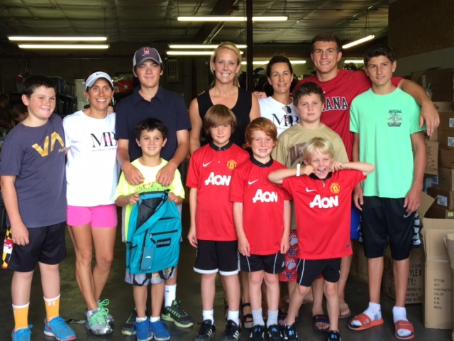 Here we are at the Fill-A-Backpack Event, July 26, 2014