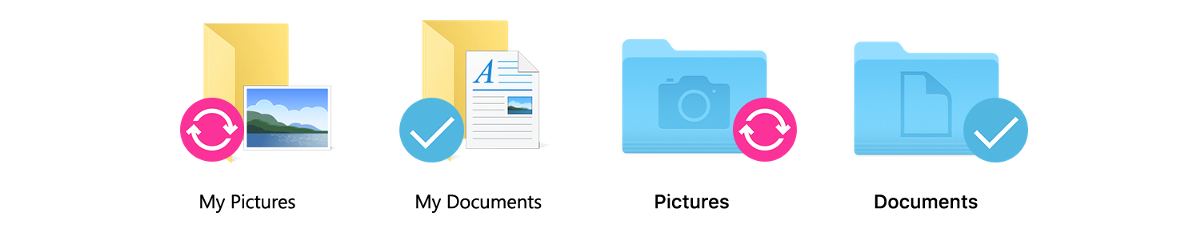 Sync folders outside of your odrive folder. Choose any folder on your computer to sync with any folder on any storage you've linked to odrive.