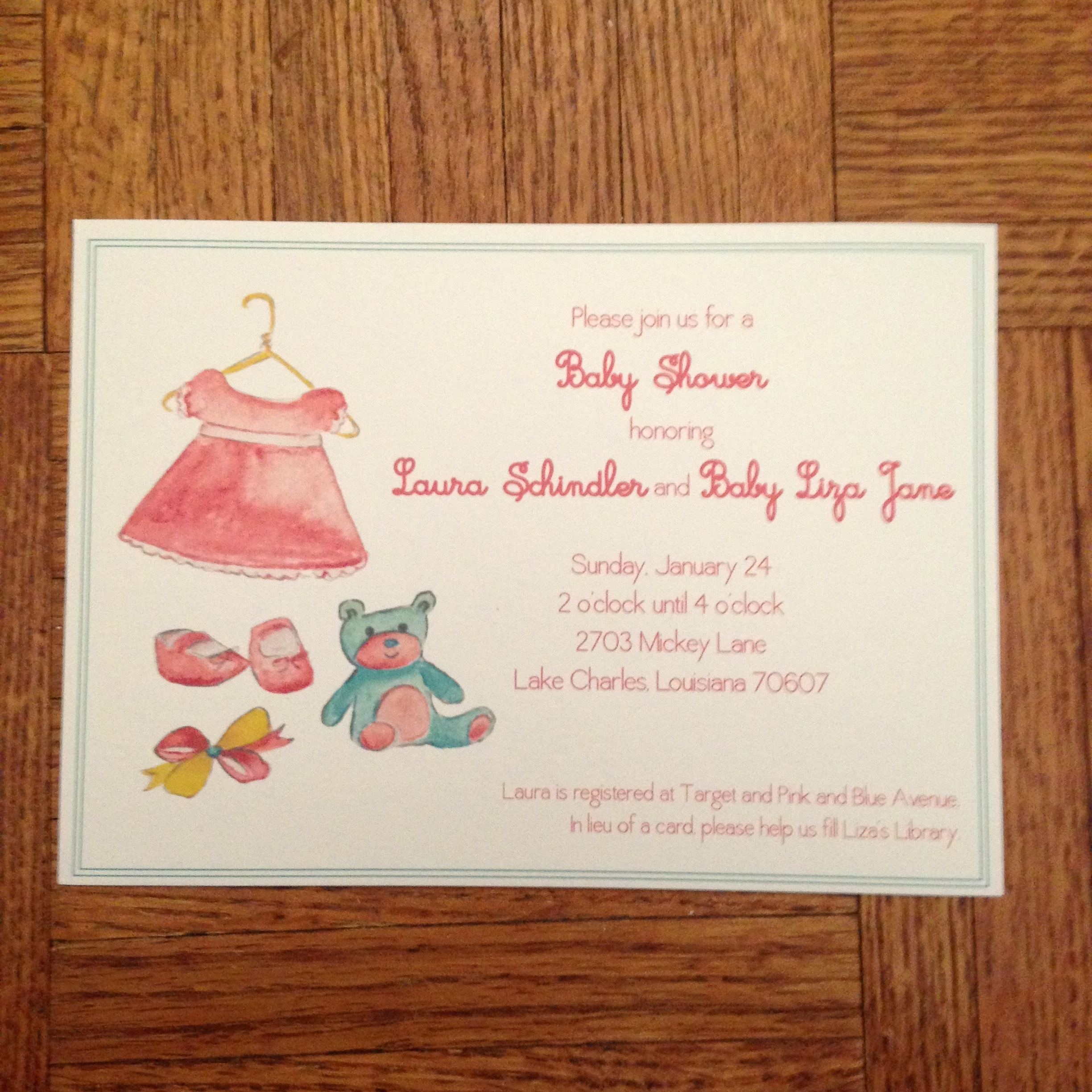 Baby Shower Invitation - baby girl
