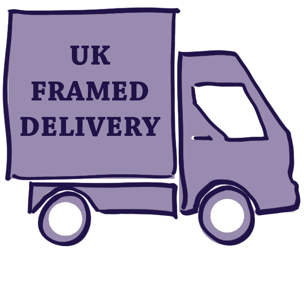 We are pleased to offer free world wide shipping for unframed artworks. We also ship framed artworks throughout the UK, free within Ireland and N.Ireland and at a subsidised rate for UK Mainland. Simply select your artwork and frame on the shop page - you will see an illustration of your framing choice to assist you. Actual photos of frames can be viewed on our framing page.