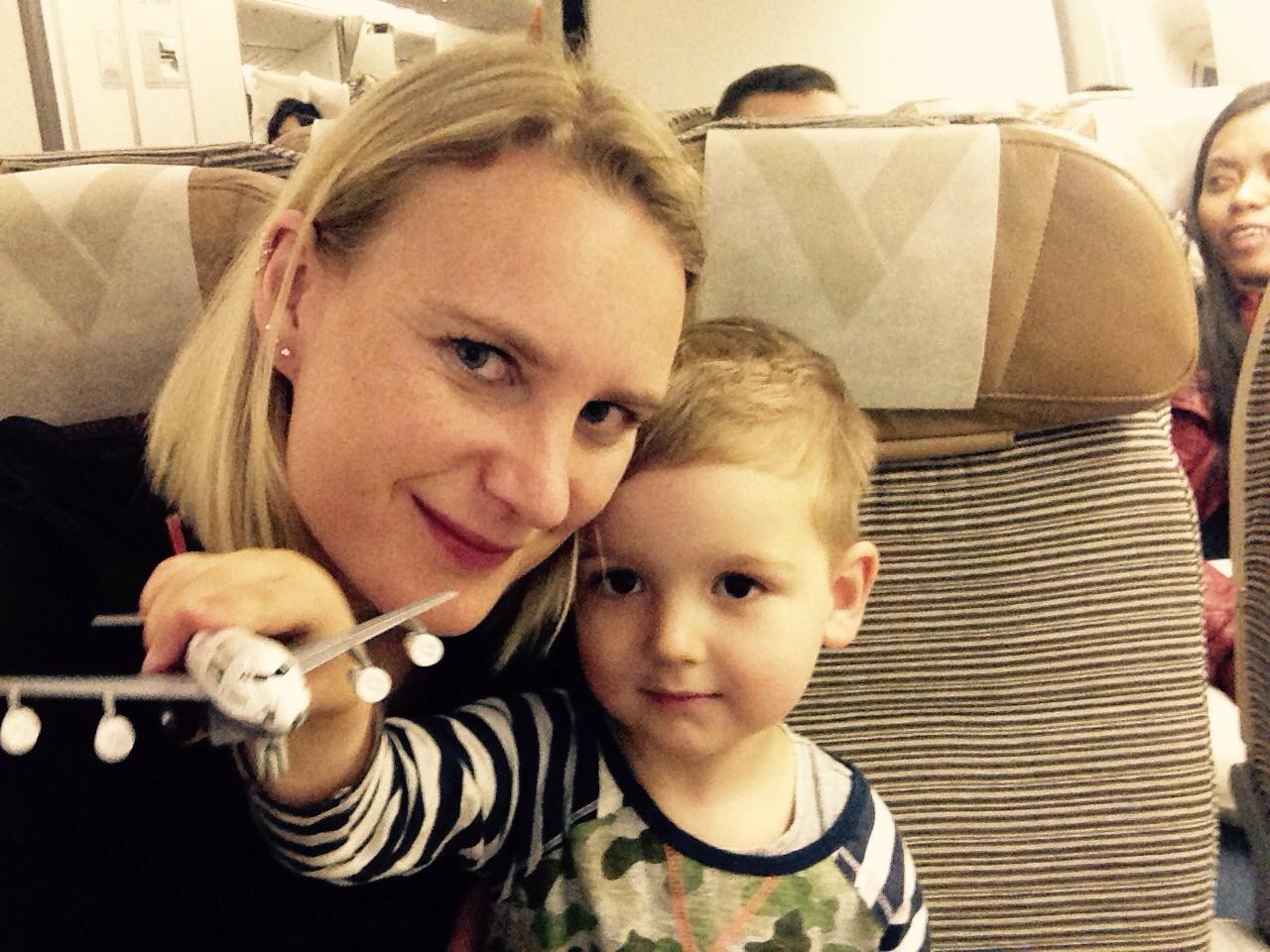 Jade and Euan pre-take off.