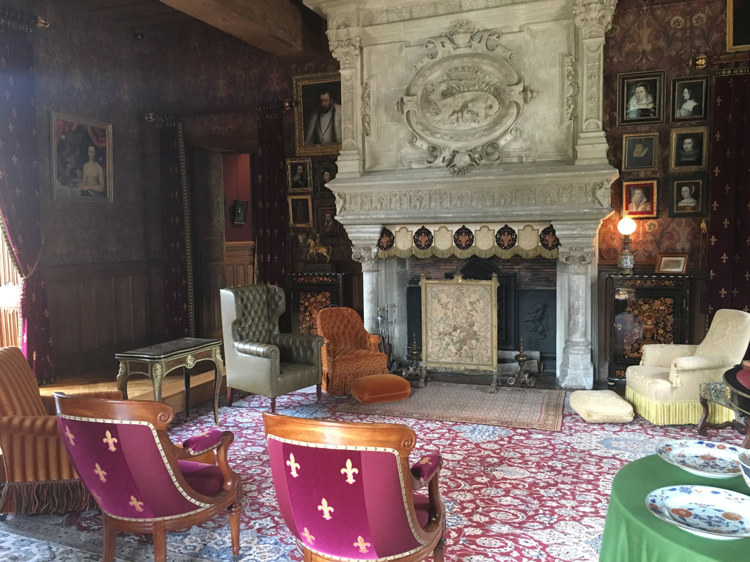 Interior at Château de Langeais