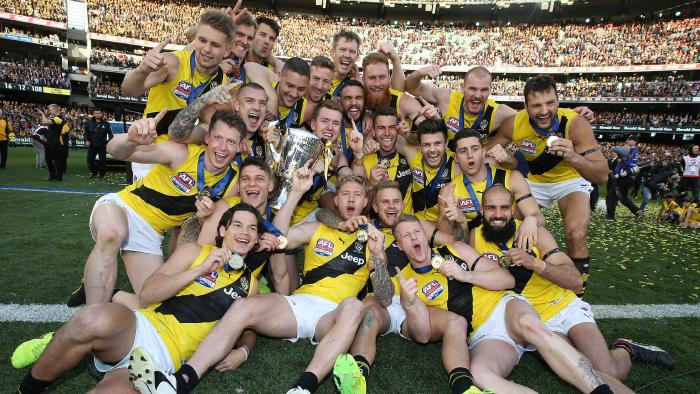 The premiership team of 2017. Well done boys, you are all heroes in my eyes. (Picture by Michael Klein via foxsports.com.au)