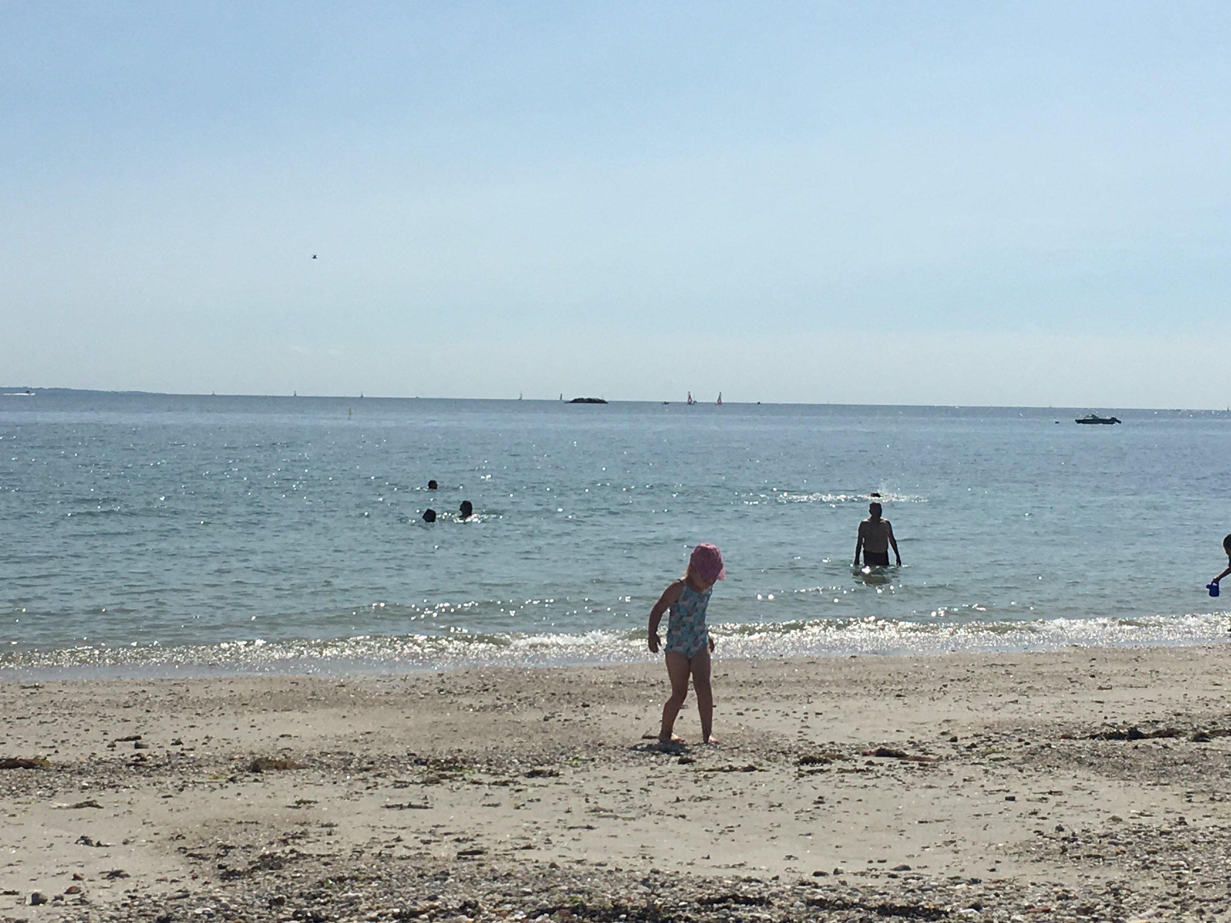 Enfant à la plage.
