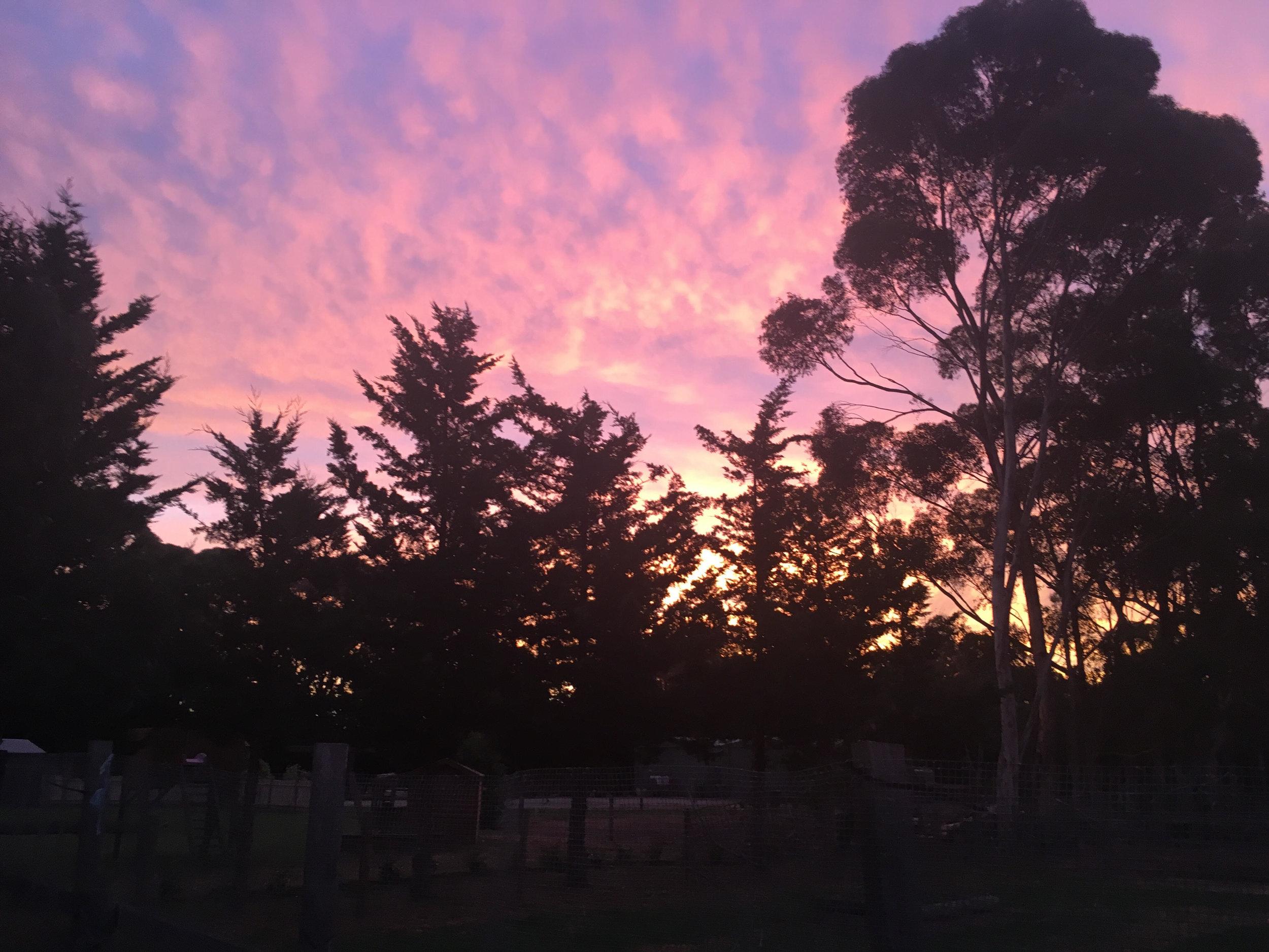 Pakenham sunset. Divine.