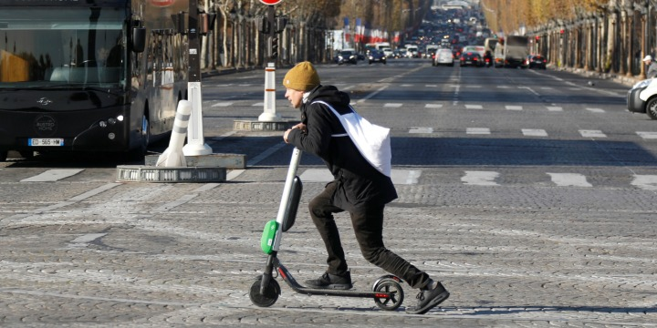 The electric scooter is a popular mode of transport in Paris. Source: Algemeiner