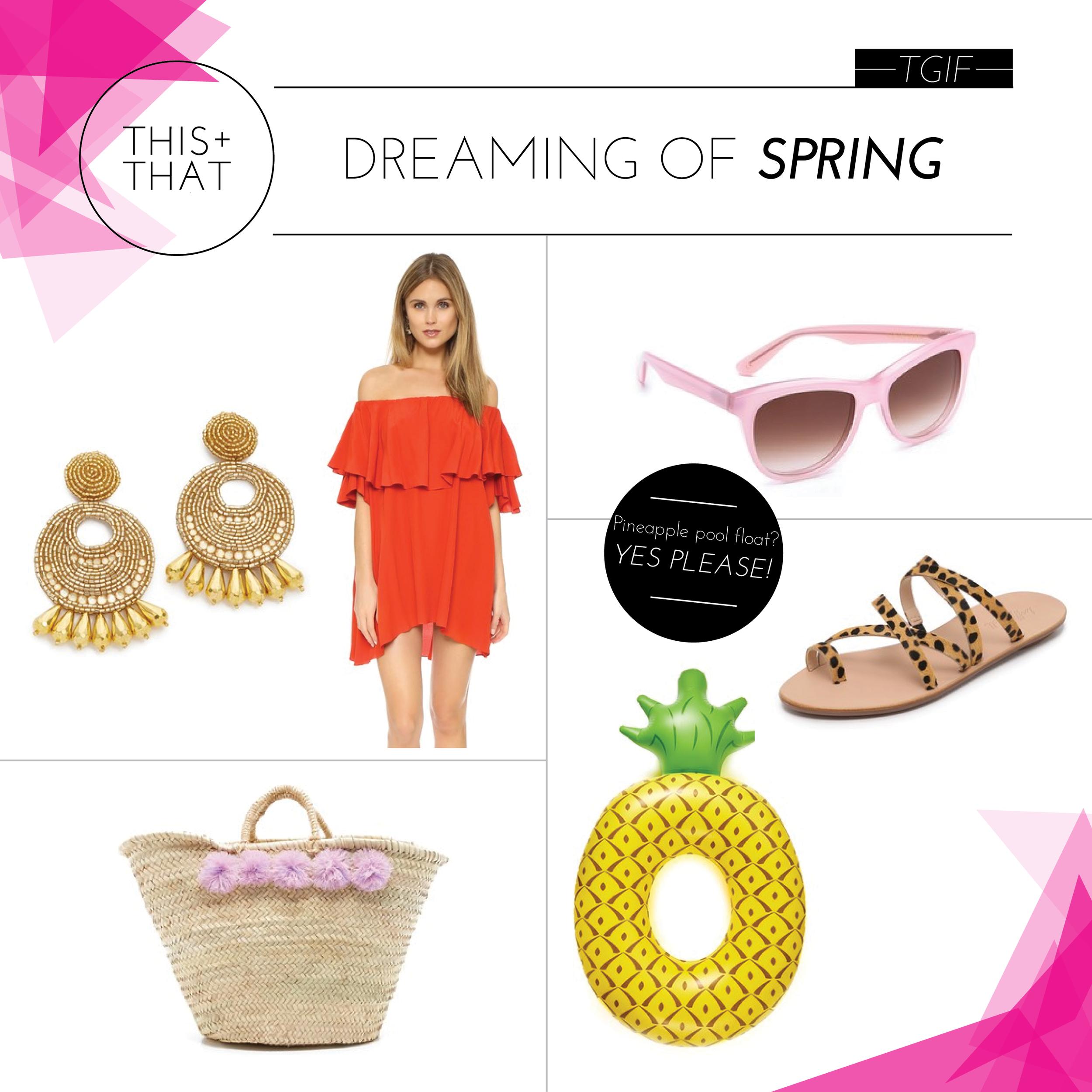 SHOP TGIF (CLOCKWISE)     EARRINGS  |  DRESS  |  SUNNIES  |  SANDALS  |  FLOAT  |  BAG