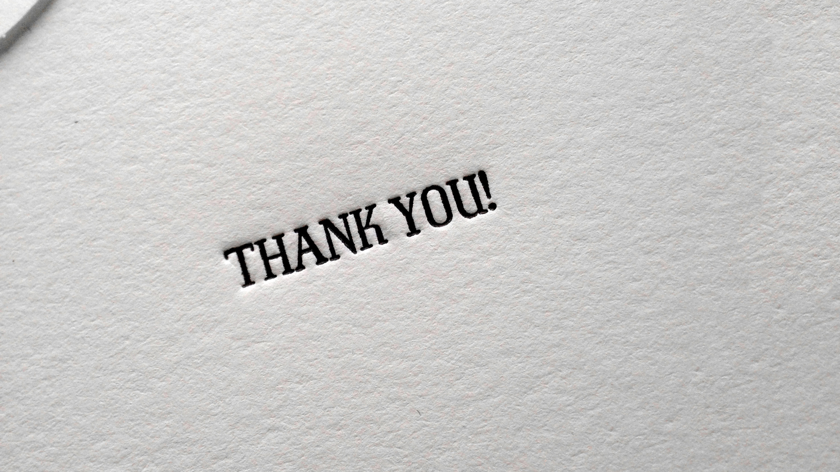 Ephemera: Thank You Booklet