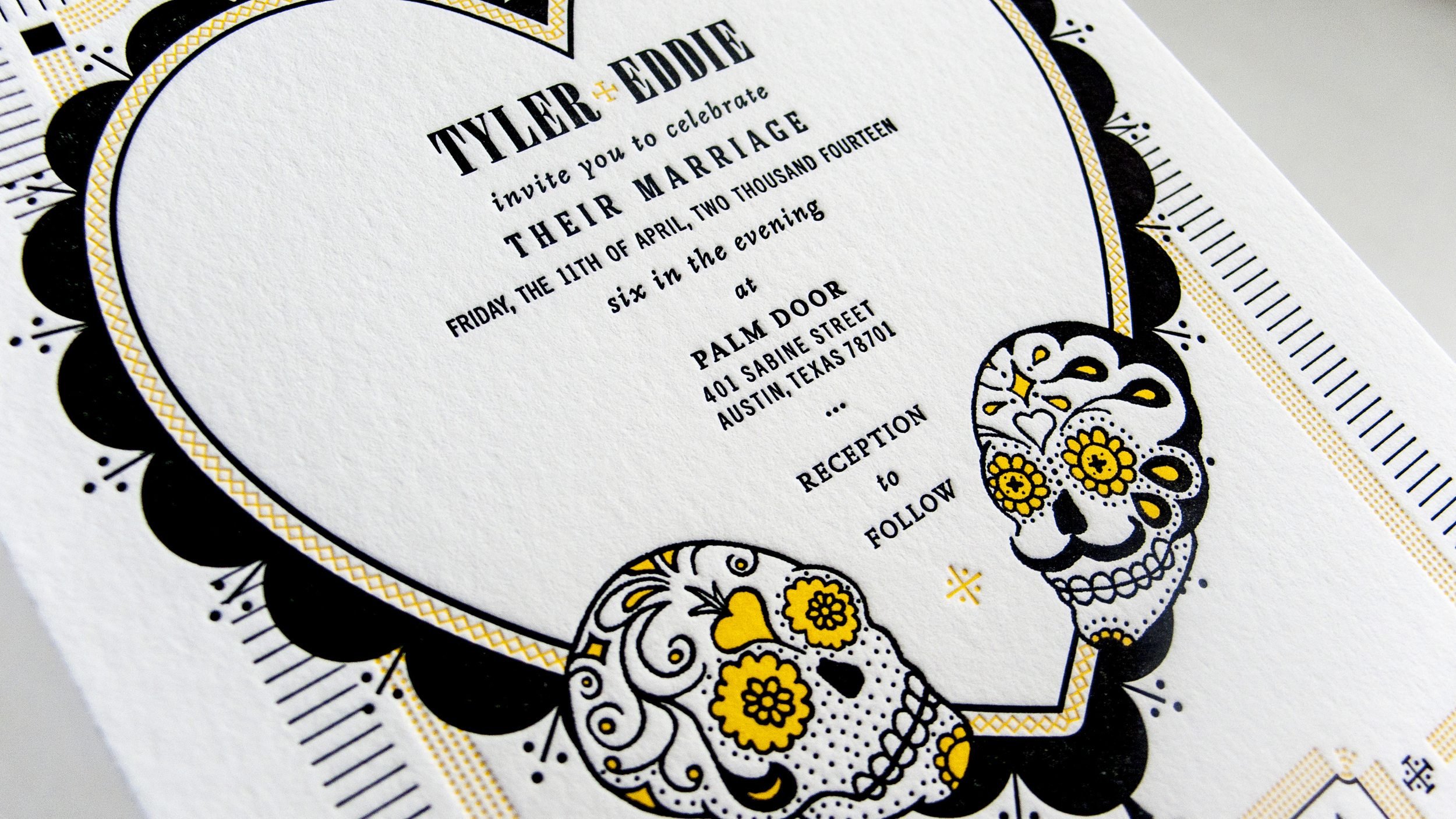 TYLER & EDDIE'S WEDDING INVITATION - honorable mentioned invitation design