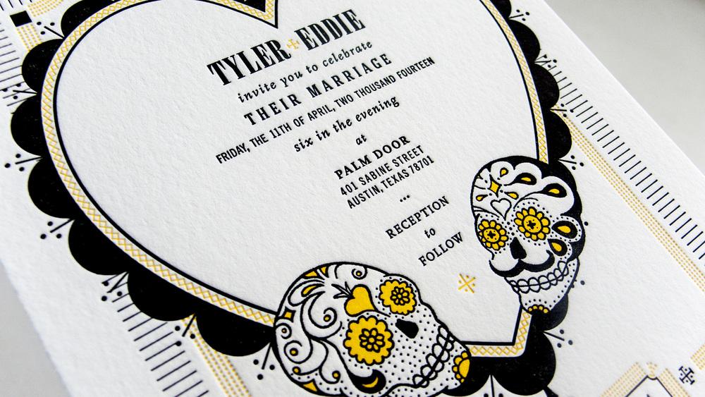 EPHEMERA: TYLER & EDDIE'S WEDDING INVITE