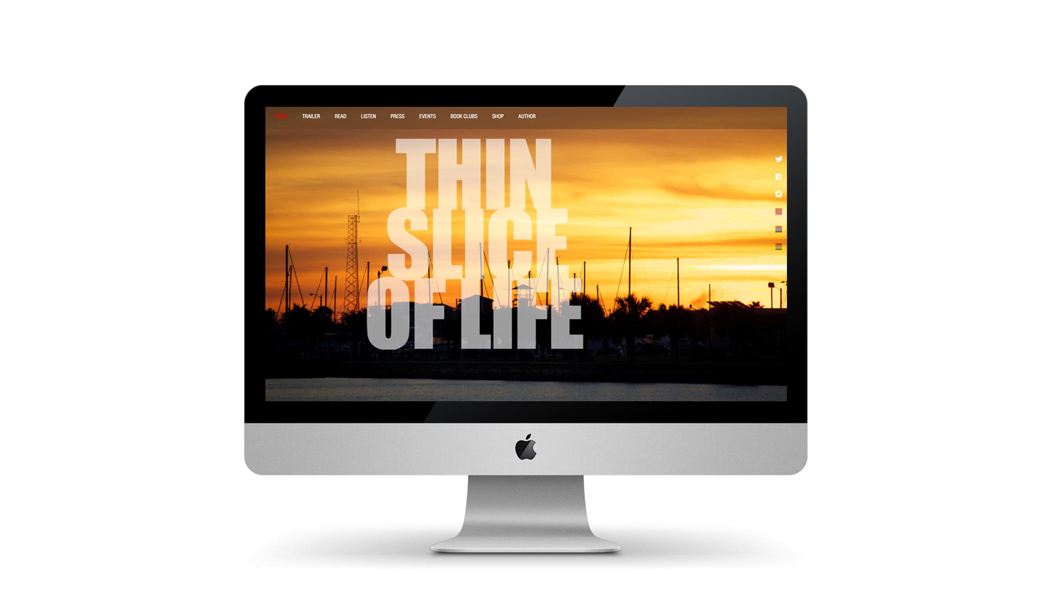 WEBSITE DESIGN & CODING: THIN SLICE of LIFE